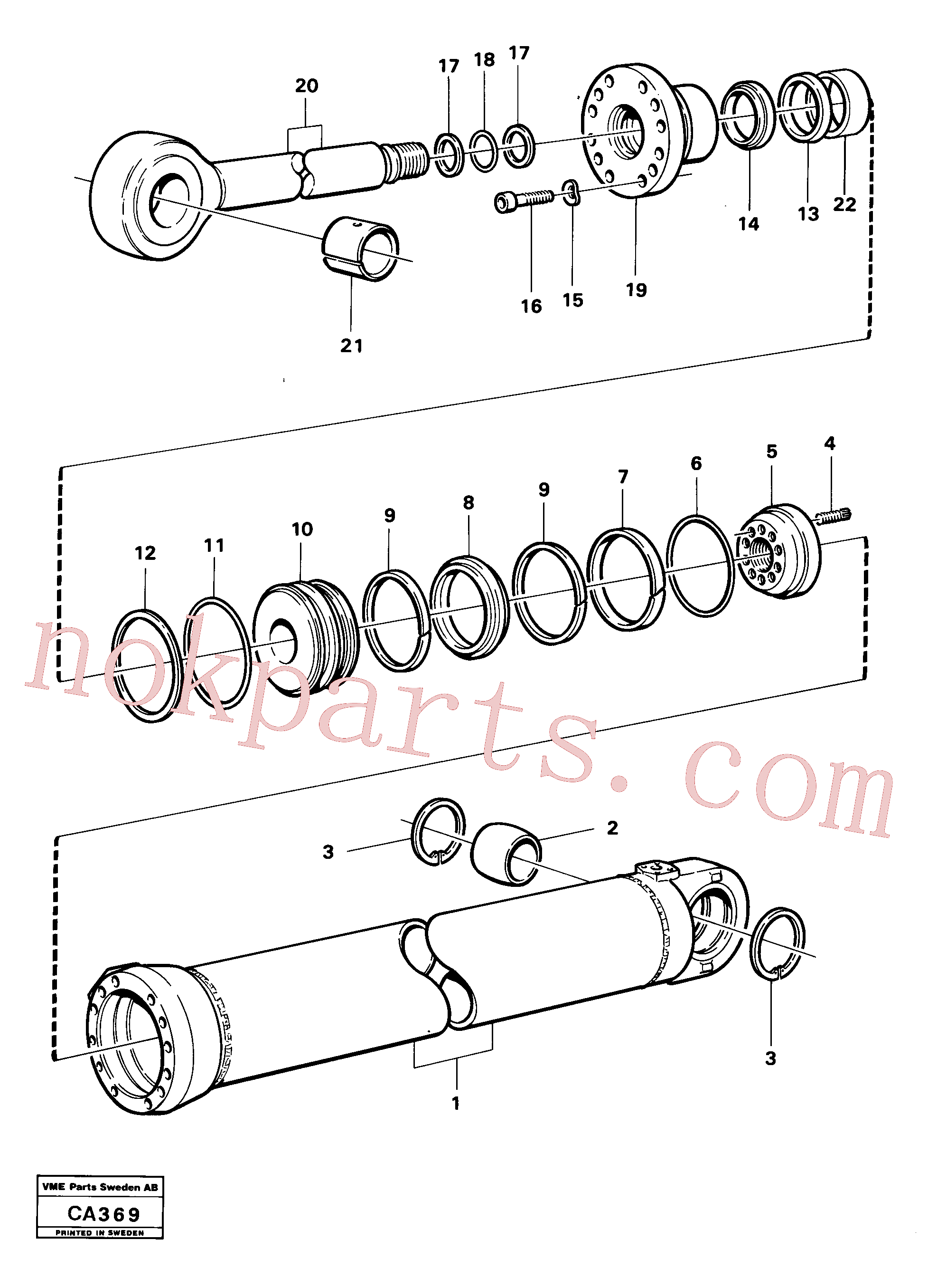 VOE11005208 for Volvo Hydraulic cylinder dipperstick cylinder(CA369 assembly)