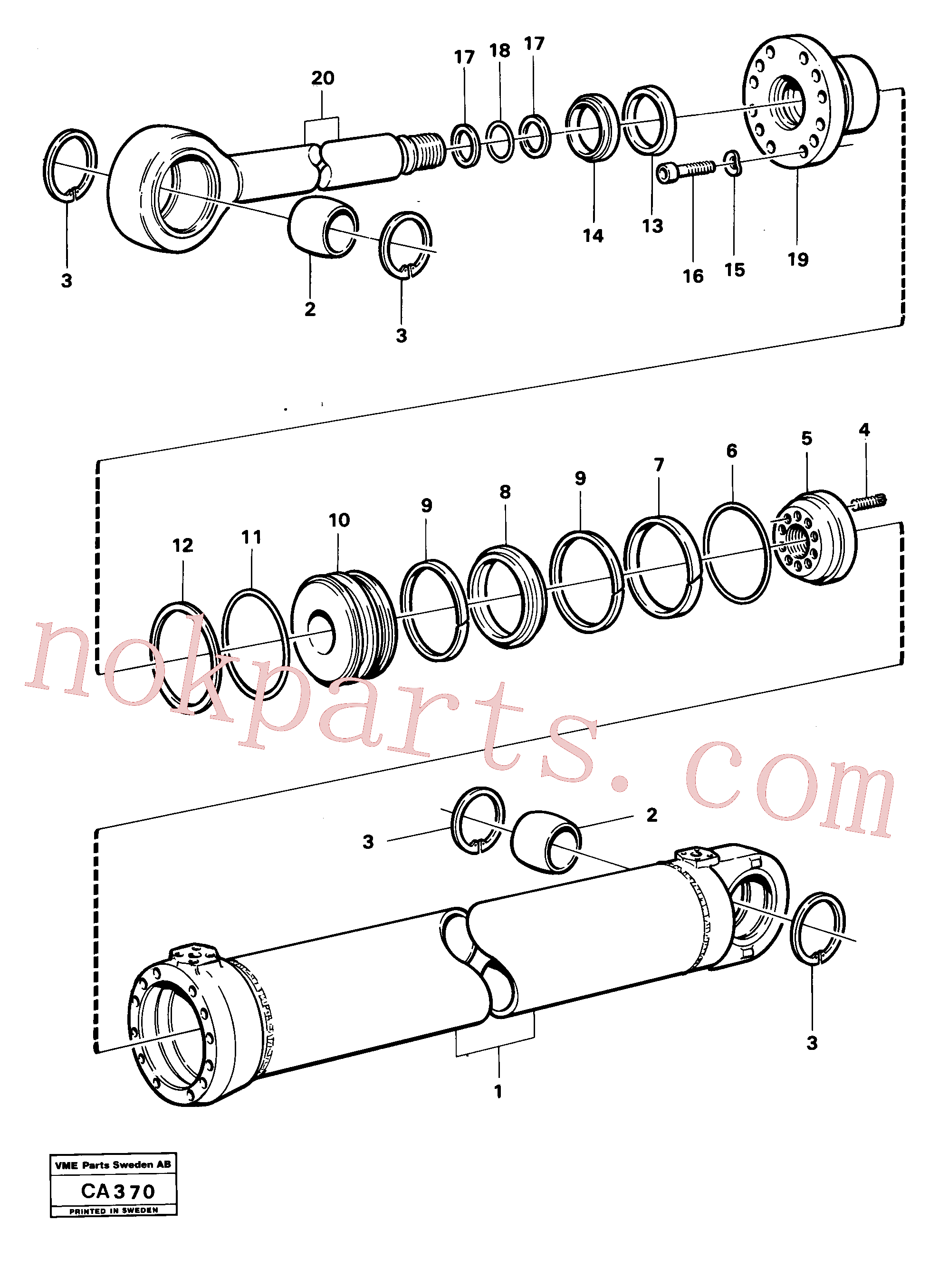 VOE11005208 for Volvo Dipperstick cylinder(CA370 assembly)