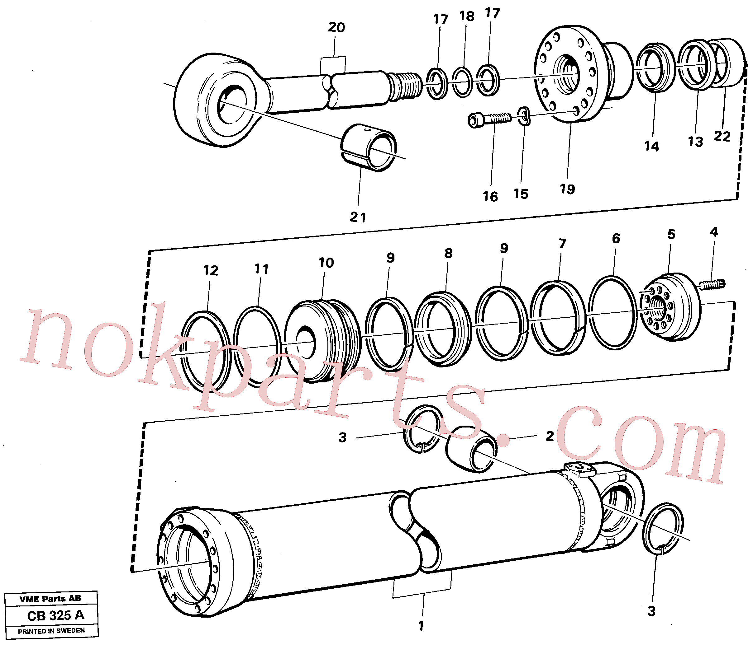 VOE11005208 for Volvo Dipperstick cylinder(CB325A assembly)