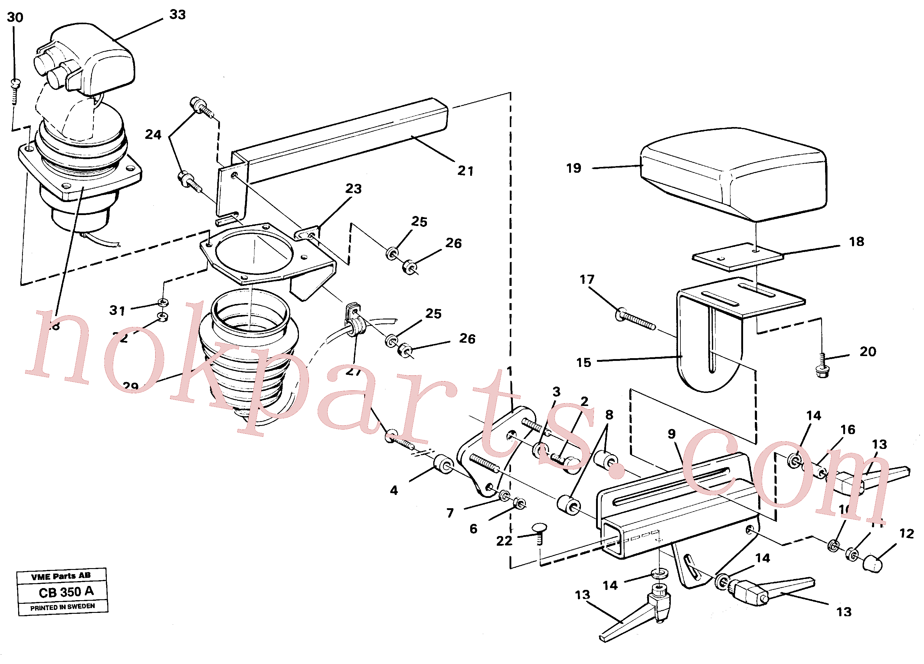 VOE11009589 for Volvo Lever mounting el.hydraulservo system(CB350A assembly)