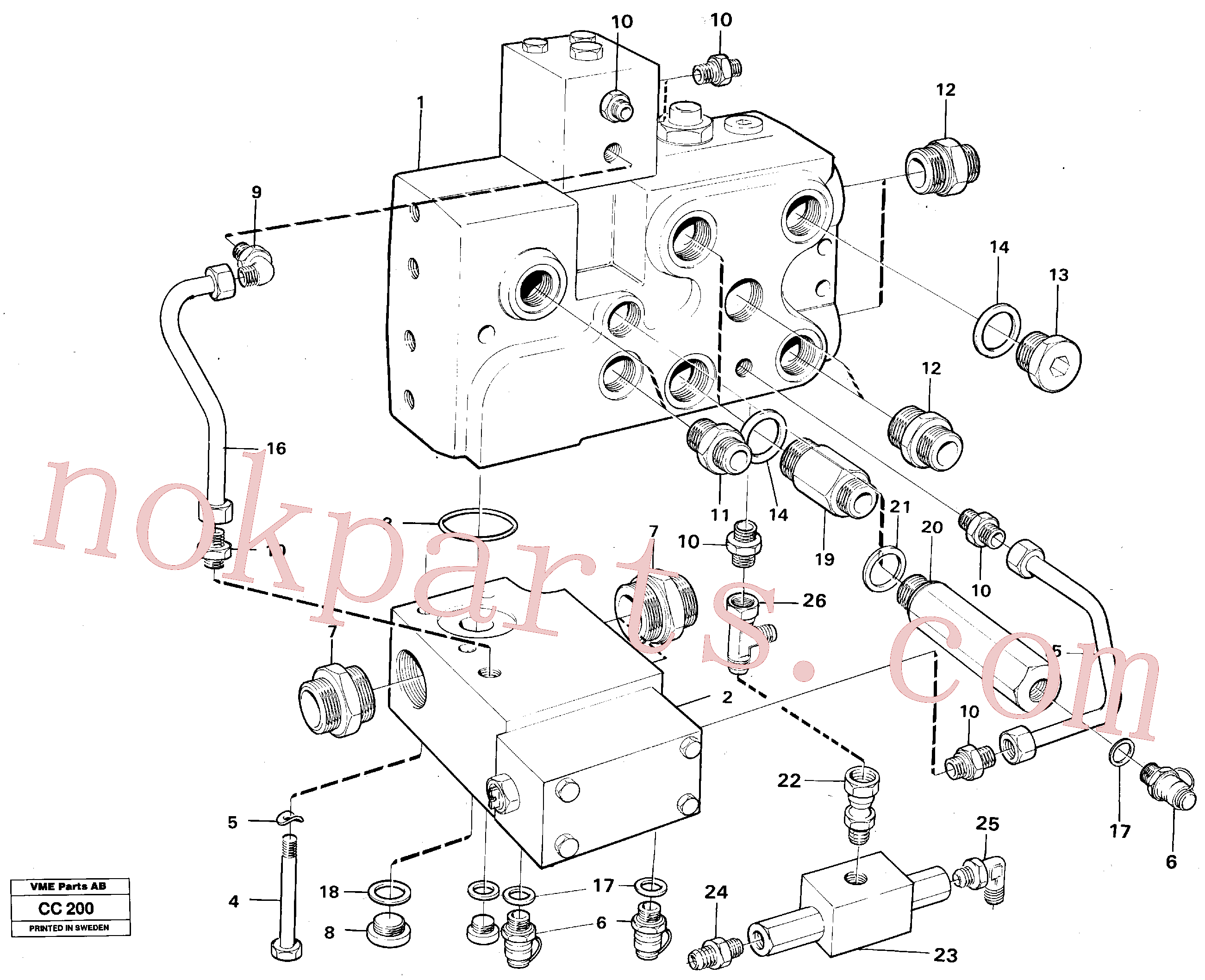 VOE960175 for Volvo Valve, circuit body and return valve(CC200 assembly)