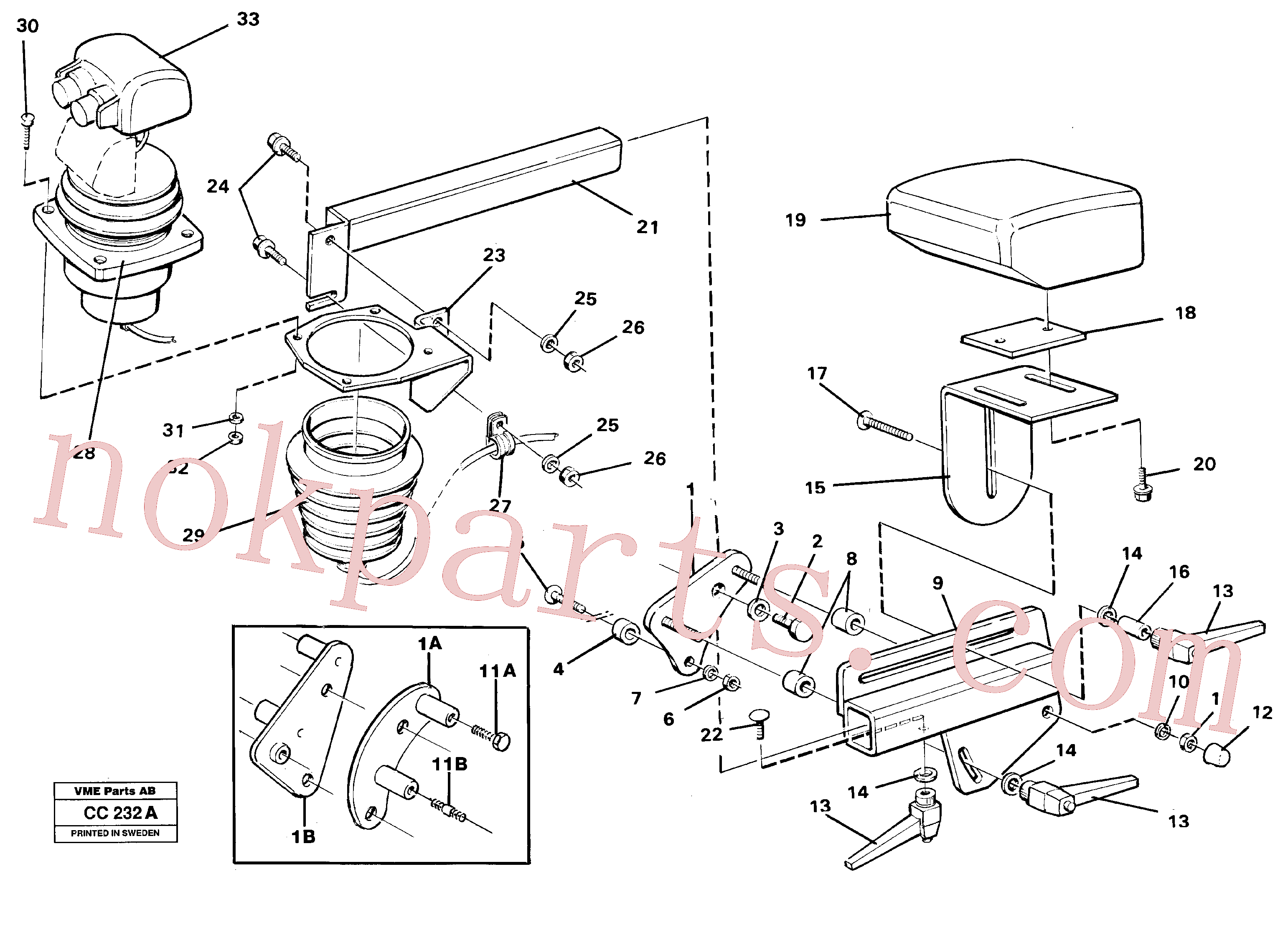 VOE11009589 for Volvo Lever mounting el.hydraulservo system(CC232A assembly)
