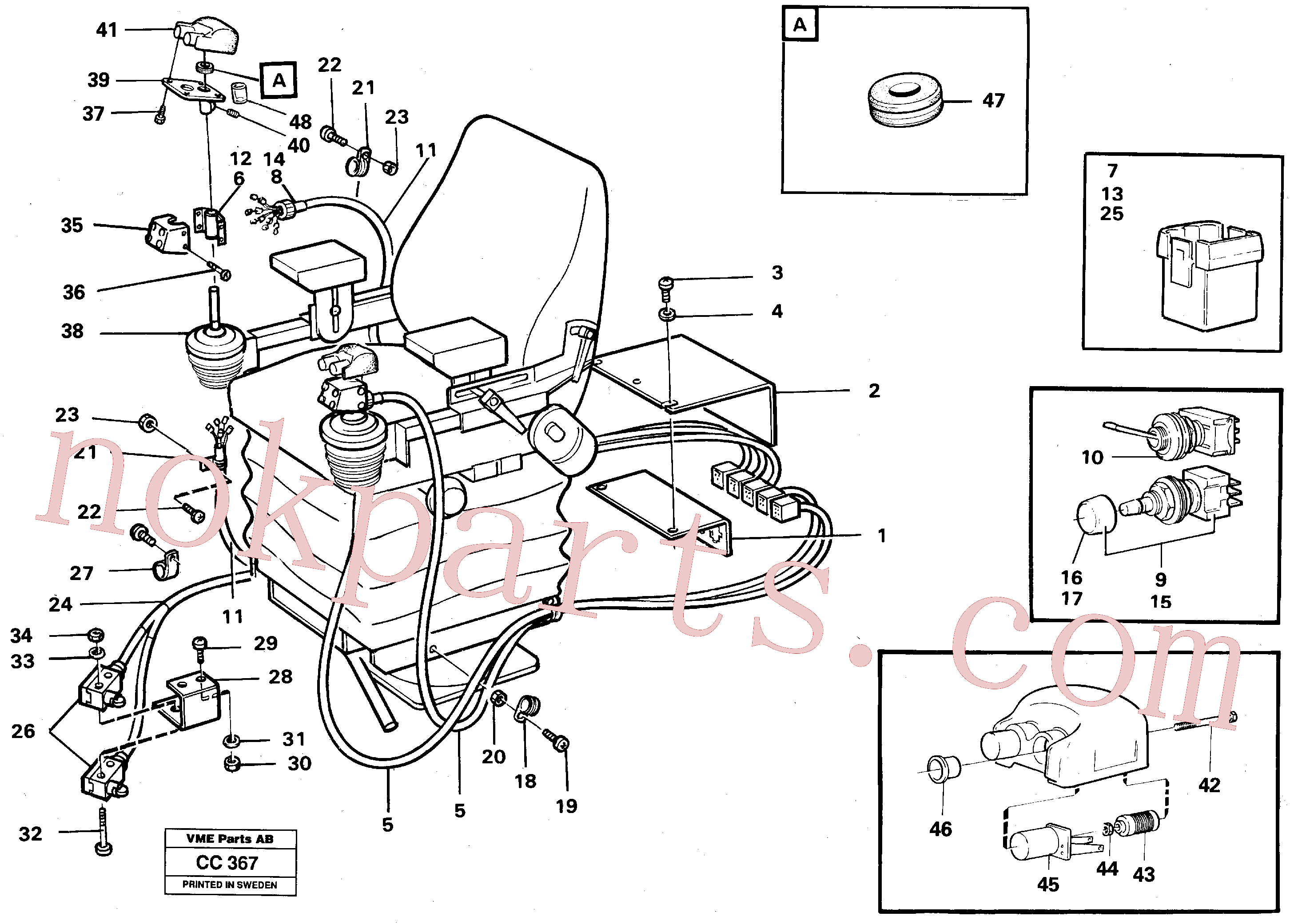 VOE11009589 for Volvo El. hydraulic servo system Operating lever(CC367 assembly)