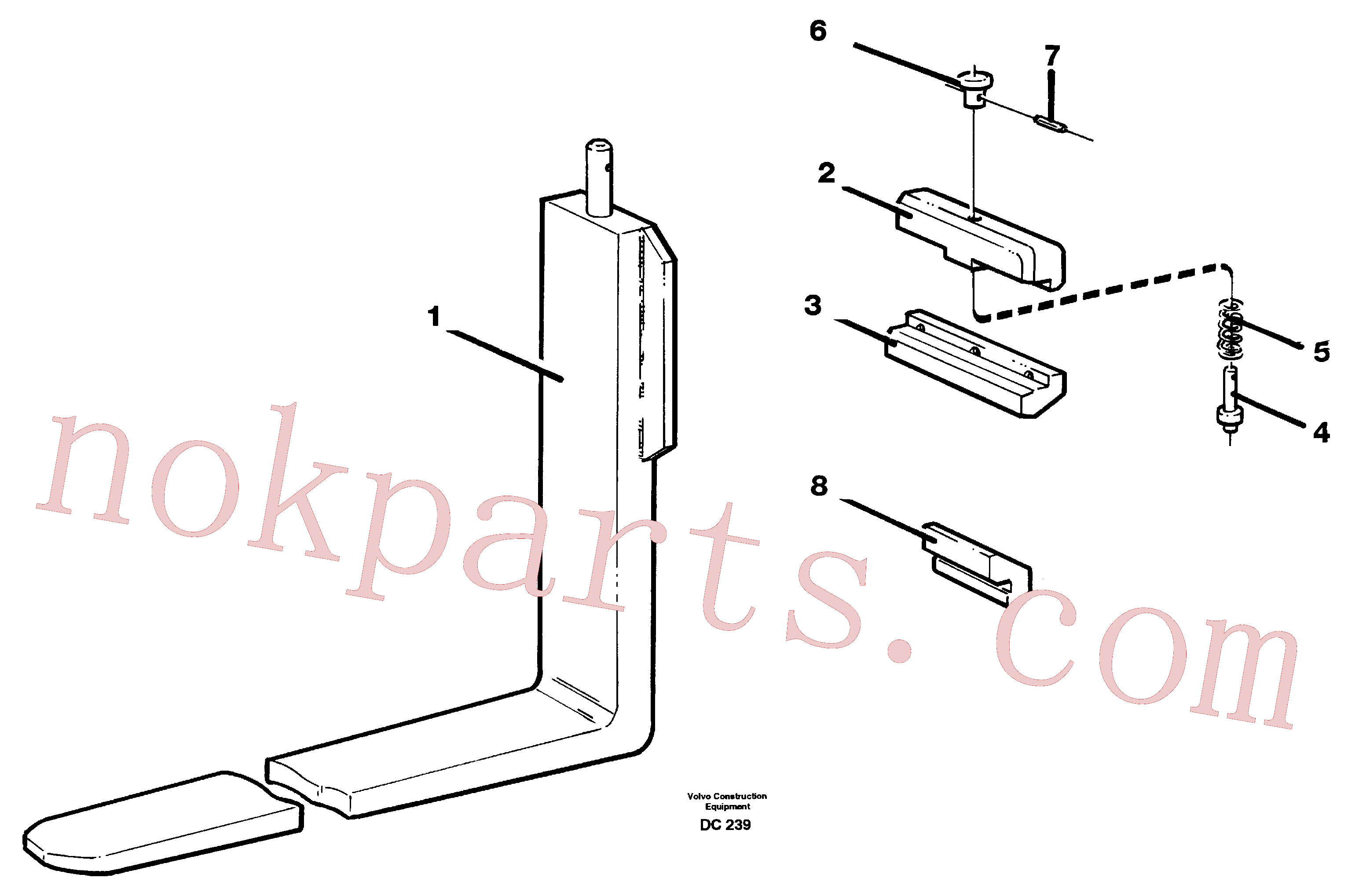 VOE11111317 for Volvo Fork tines(DC239 assembly)