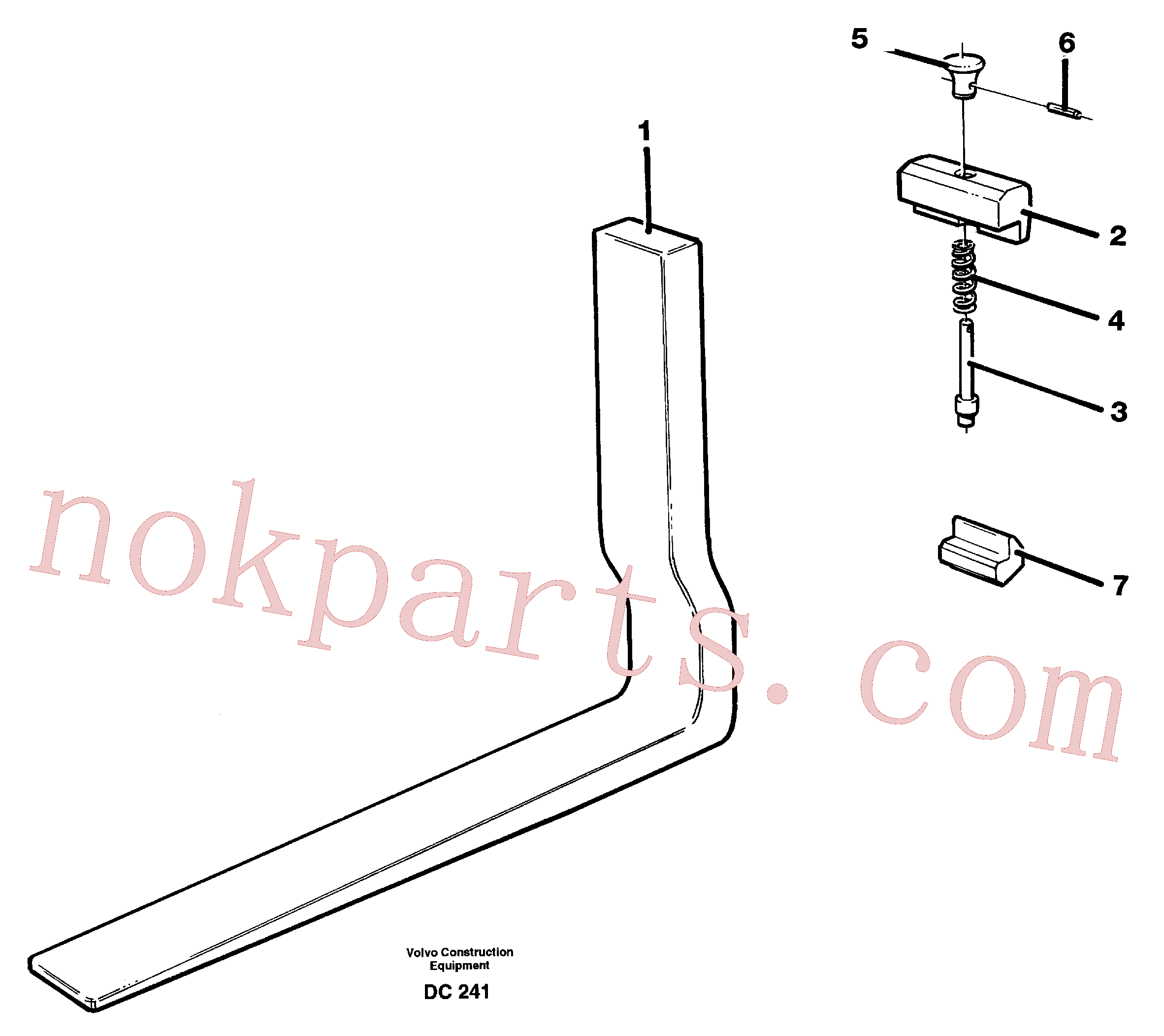 VOE11111317 for Volvo Fork tines(DC241 assembly)