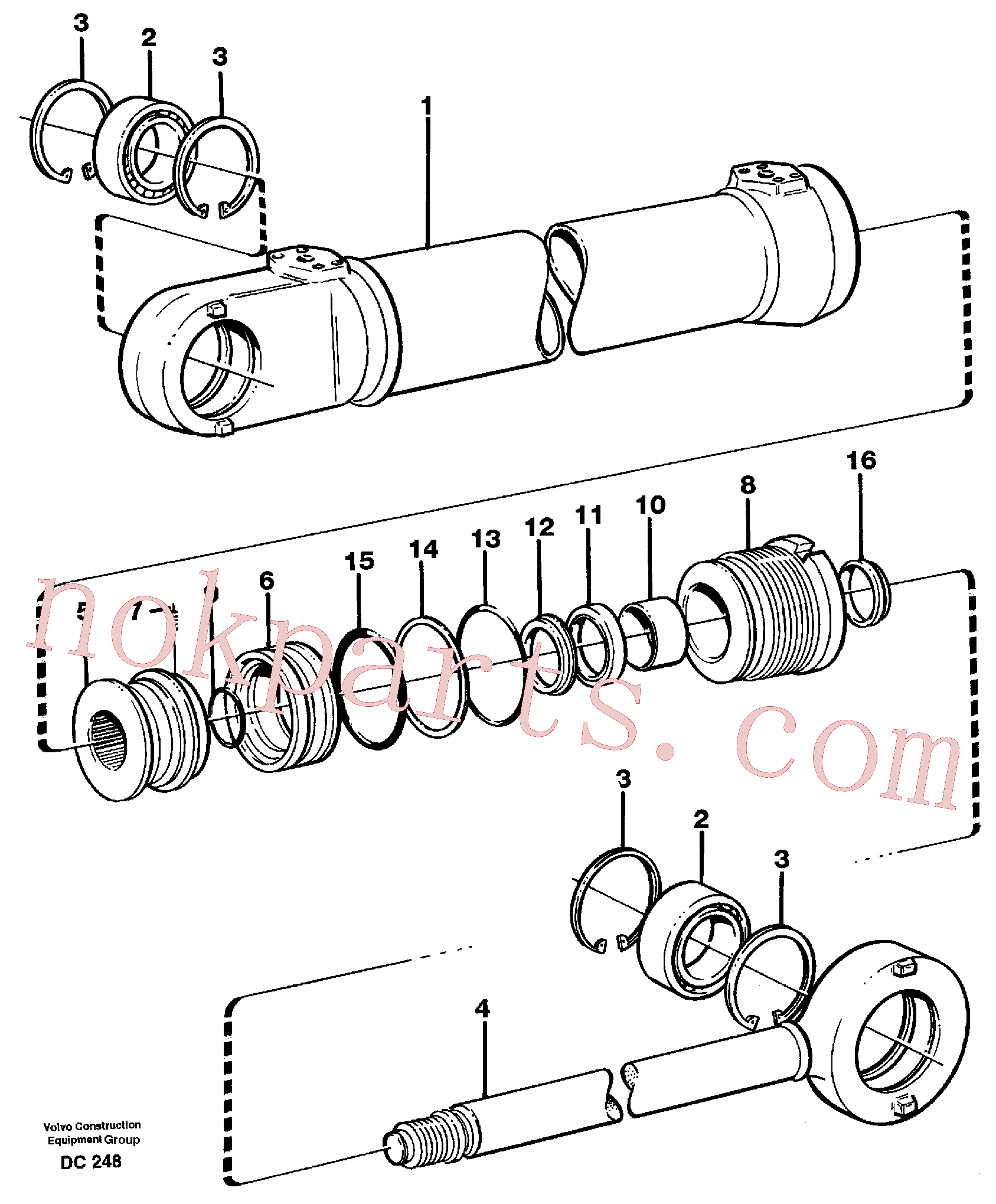 VOE11715960 for Volvo Hydraulic cylinder(DC248 assembly)