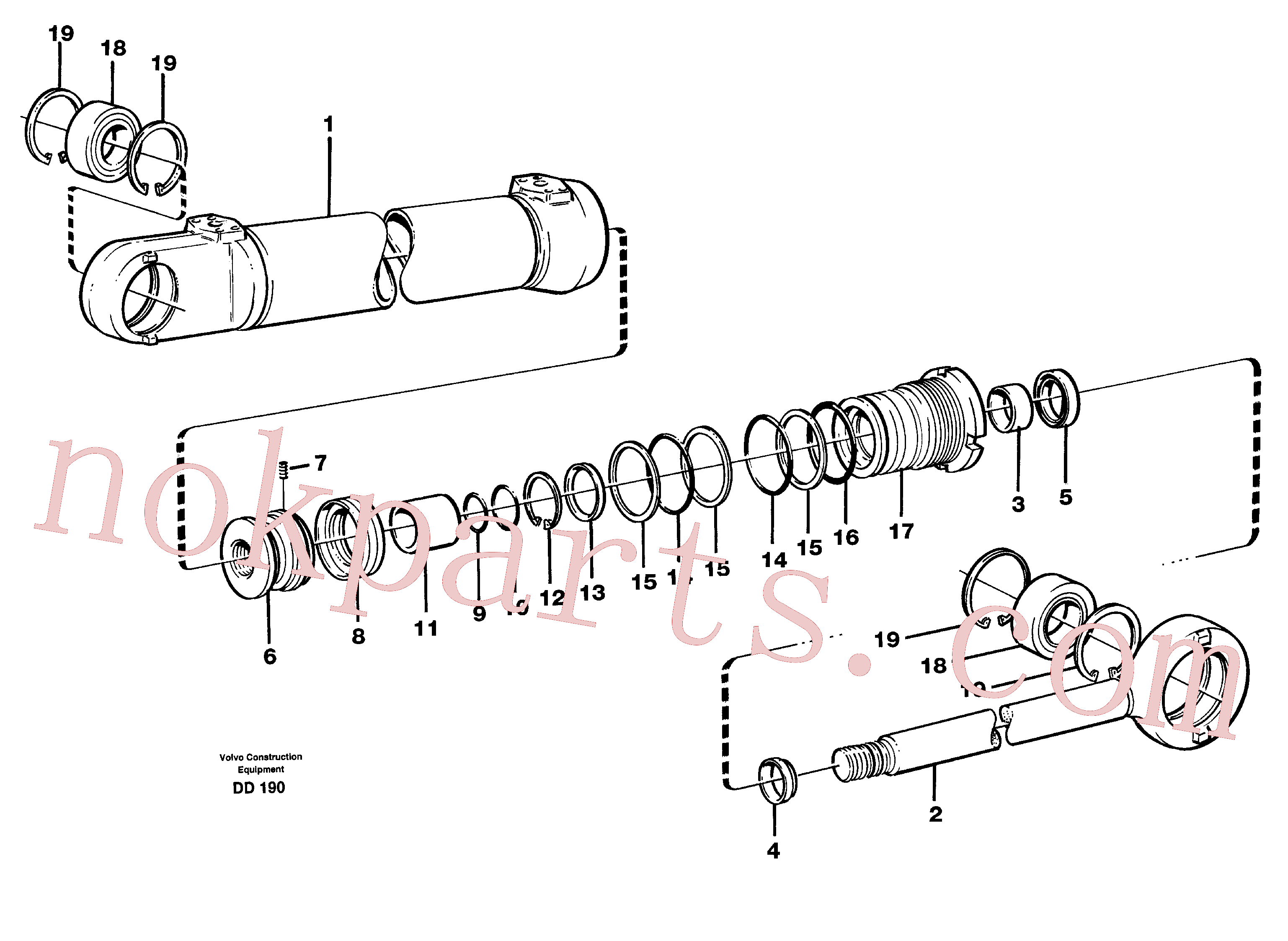 VOE11715960 for Volvo Hydraulic cylinder(DD190 assembly)