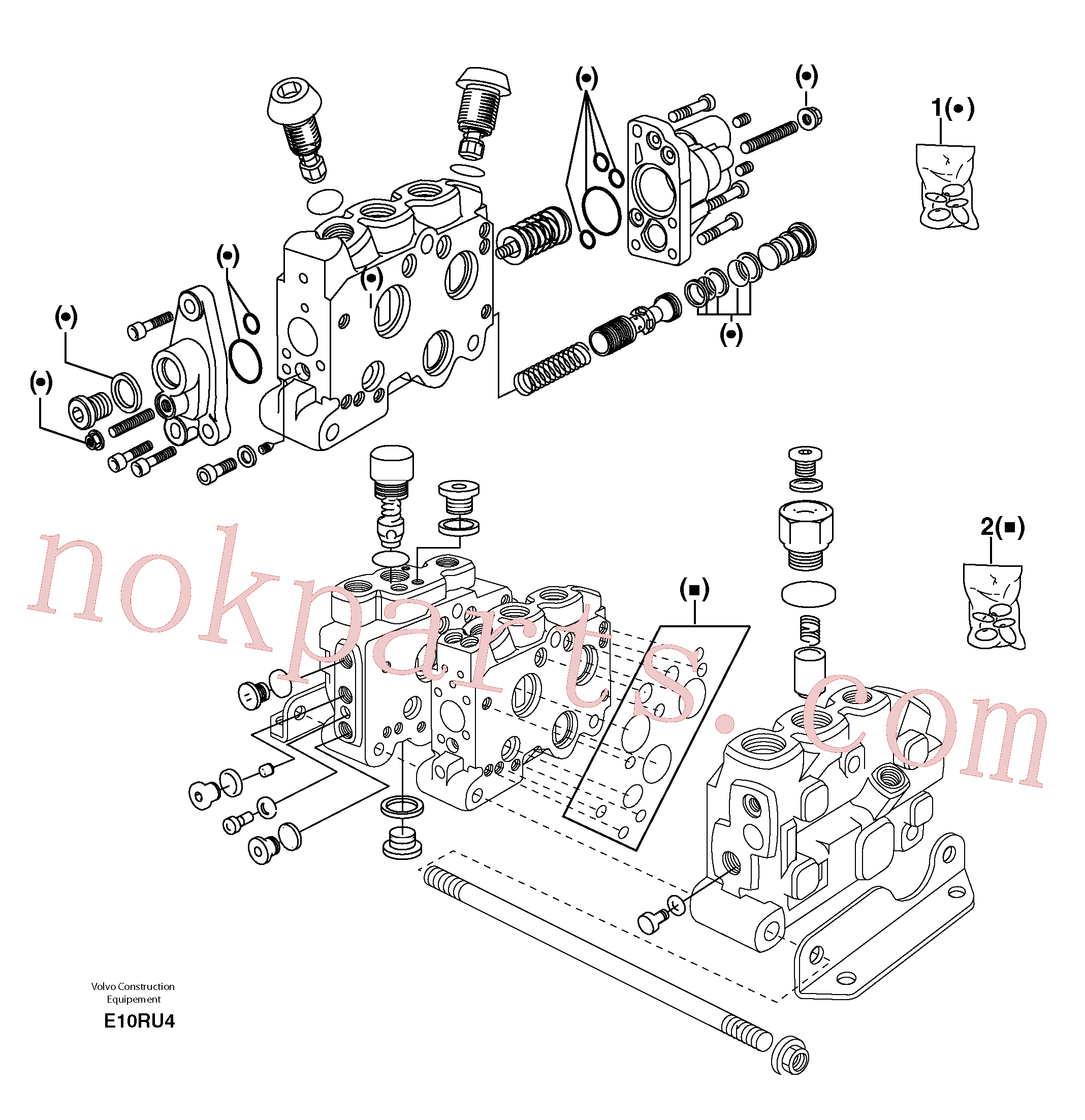 PJ7416644 for Volvo Control valve : seal (kit) for complete element(E10RU4 assembly)