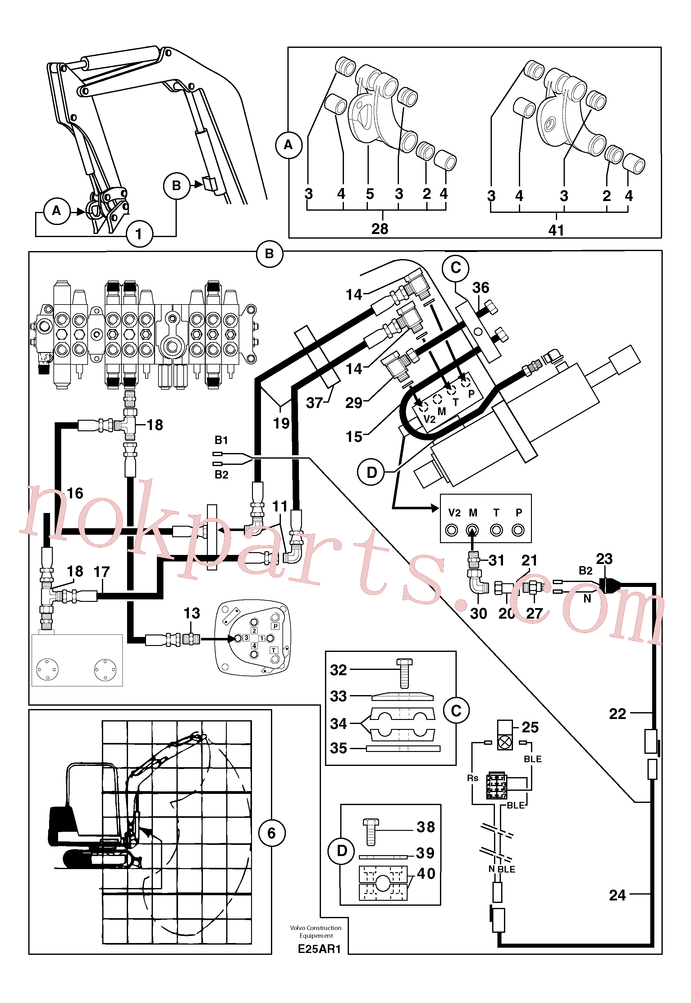 PJ3870086 for Volvo Handling operations Ce / without Puma(E25AR1 assembly)