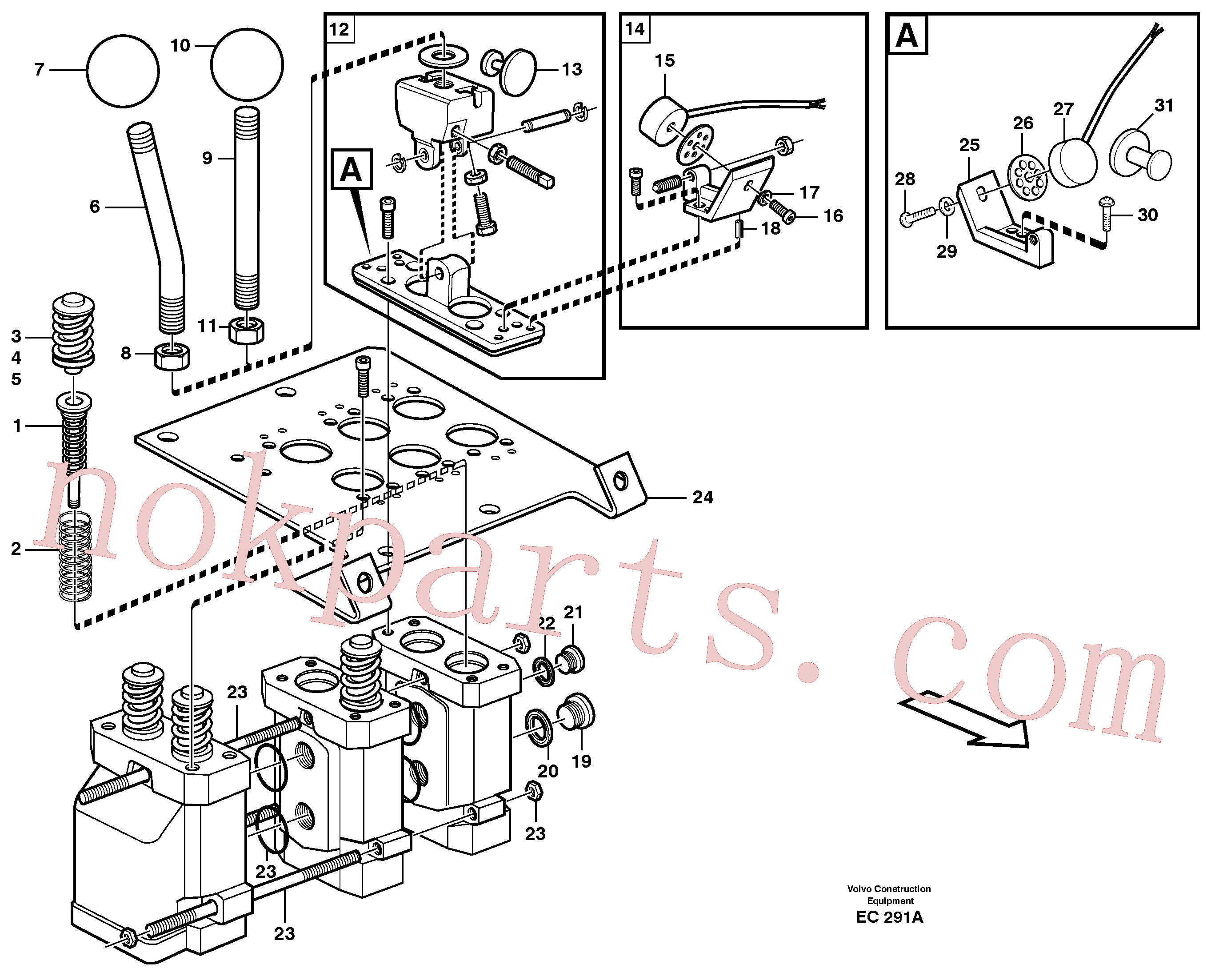 VOE11999448 for Volvo Servo valve(EC291A assembly)