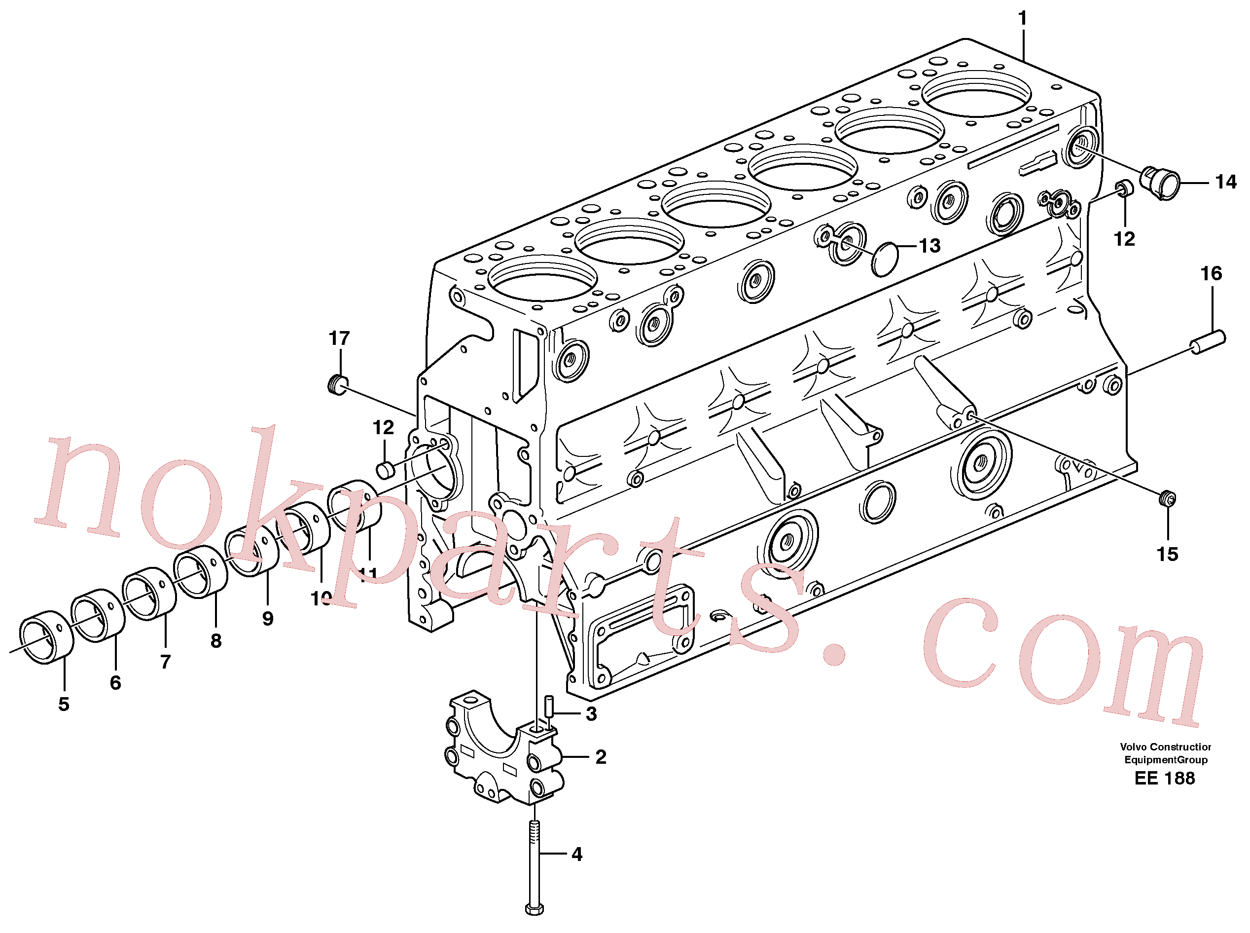 VOE191171 for Volvo Cylinder block(EE188 assembly)