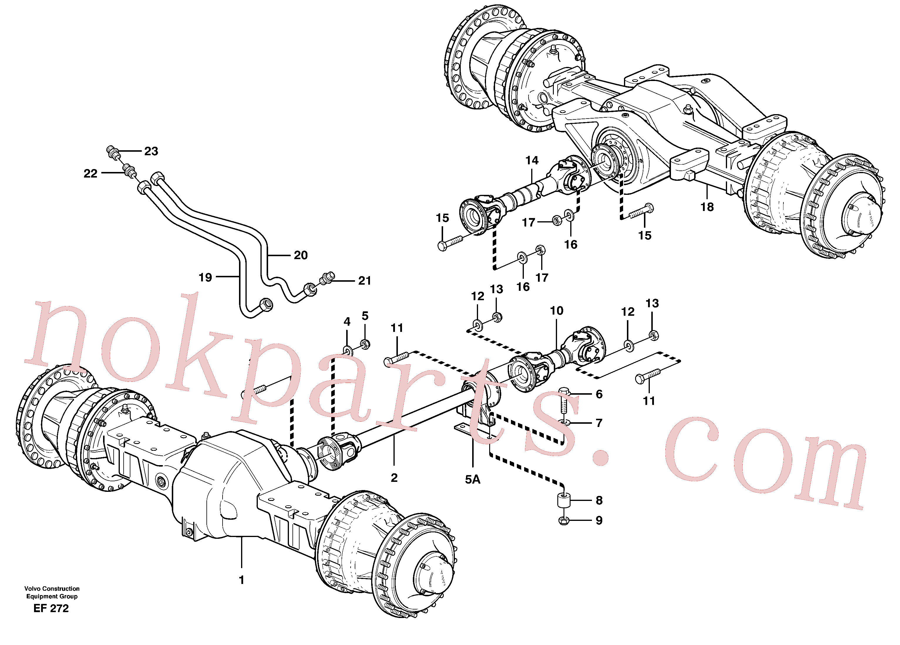 VOE11172120 for Volvo Propeller shafts with fitting parts(EF272 assembly)