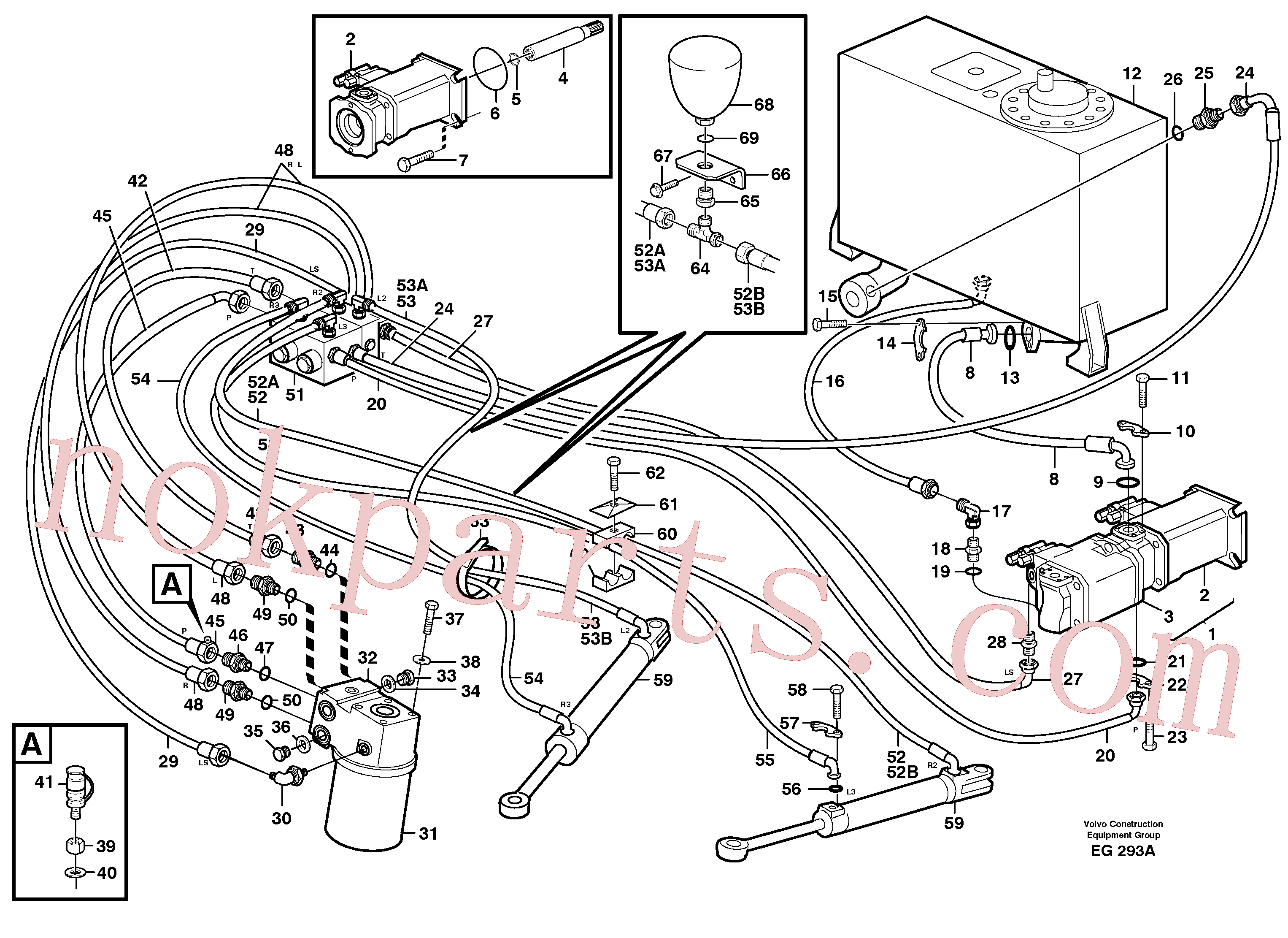 SA9512-02228 for Volvo Steering system(EG293A assembly)
