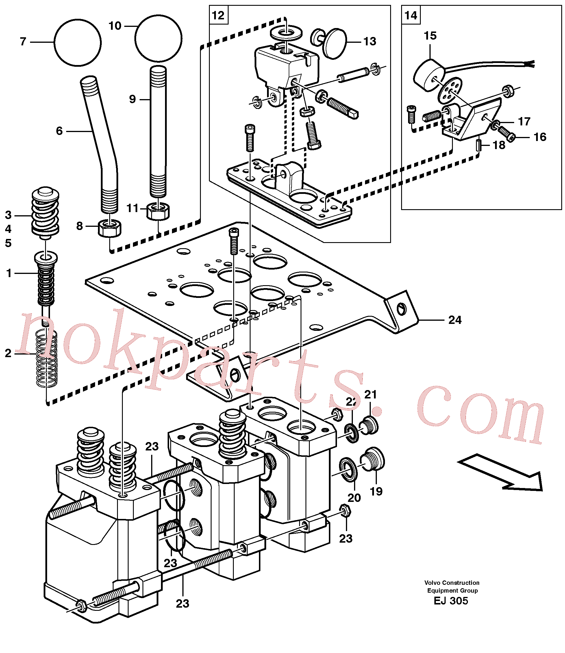 VOE11999448 for Volvo Servo valve(EJ305 assembly)