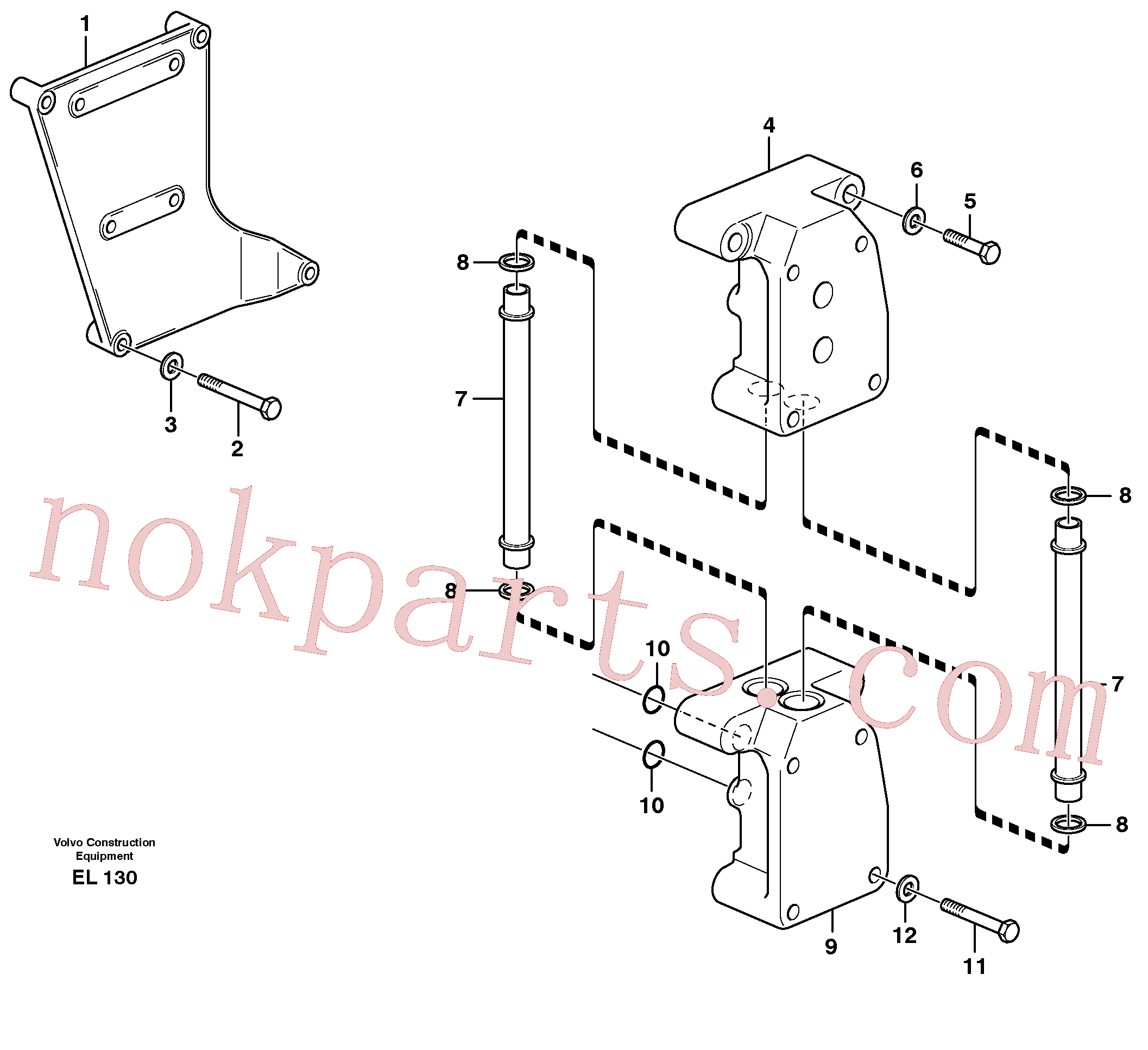 VOE14014888 for Volvo Distribution housing(EL130 assembly)