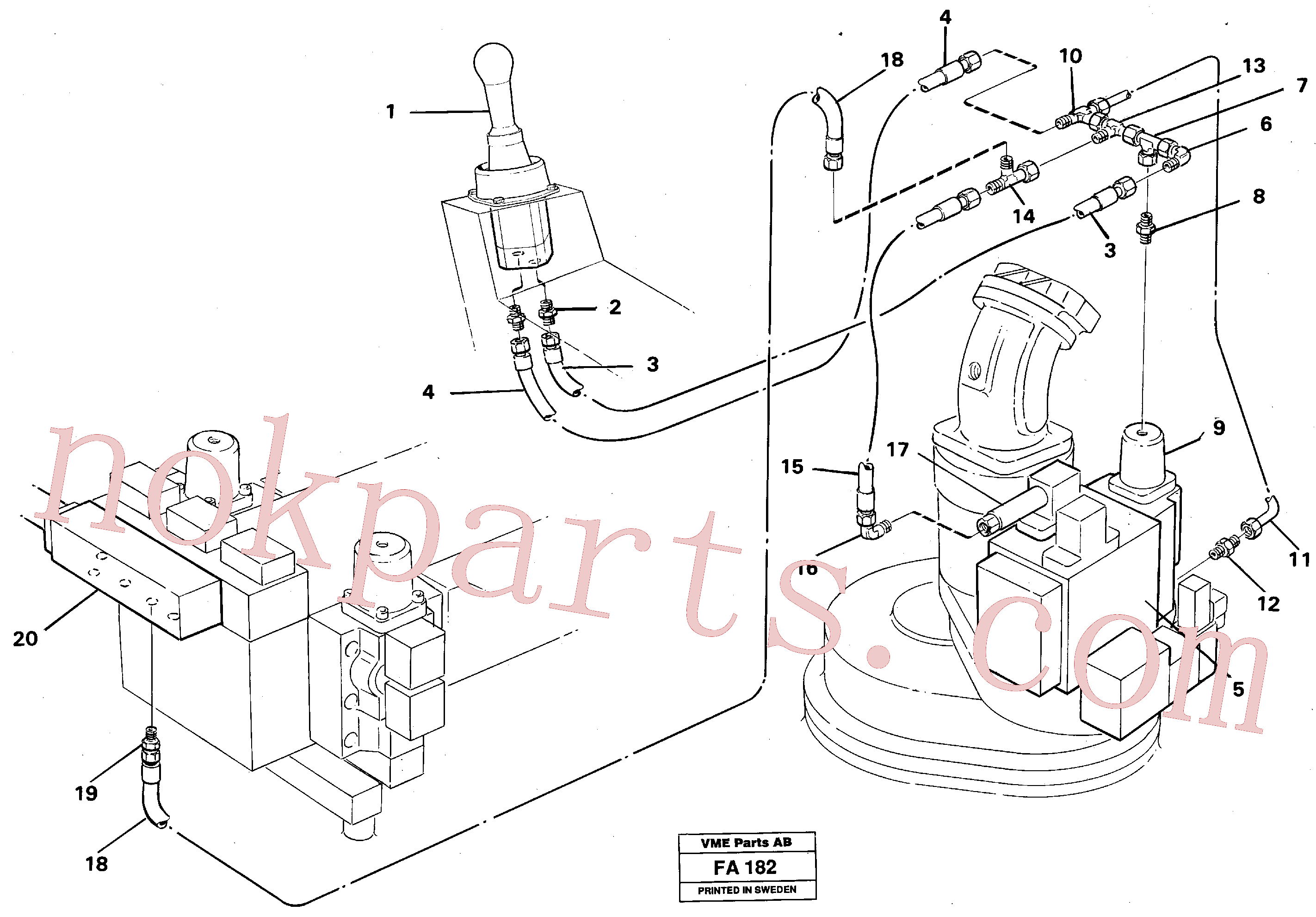 VOE14213116 for Volvo Servo hydraulics, slewing(FA182 assembly)