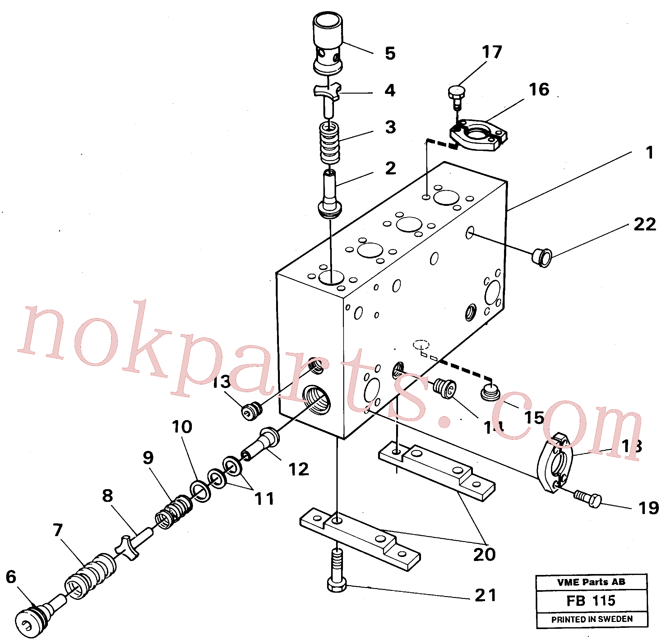 VOE14232079 for Volvo Connection board(FB115 assembly)