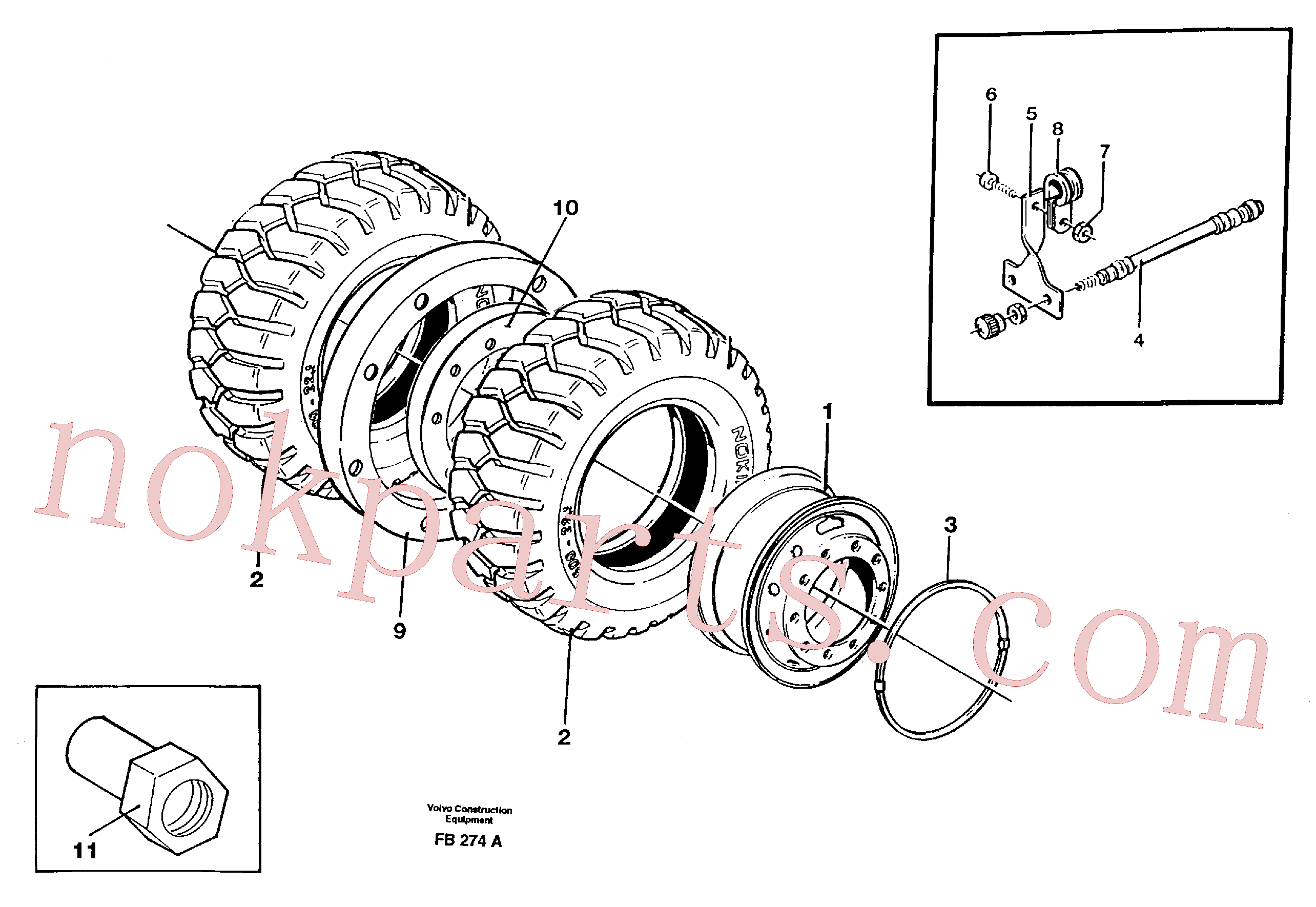 VOE14023496 for Volvo Wheel equipment(FB274A assembly)