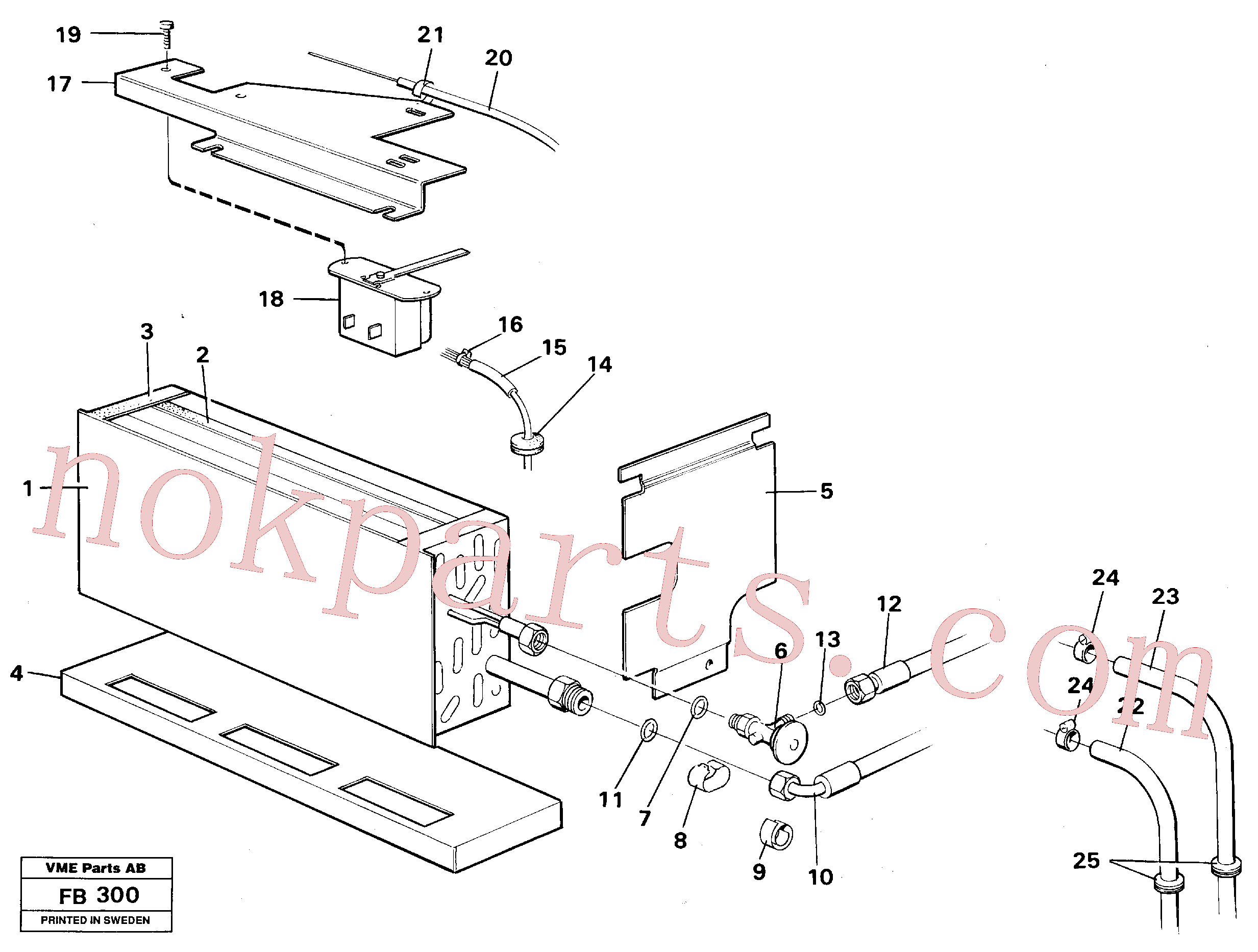 VOE942978 for Volvo Evaporator with fitting parts Cooling agent R12(FB300 assembly)