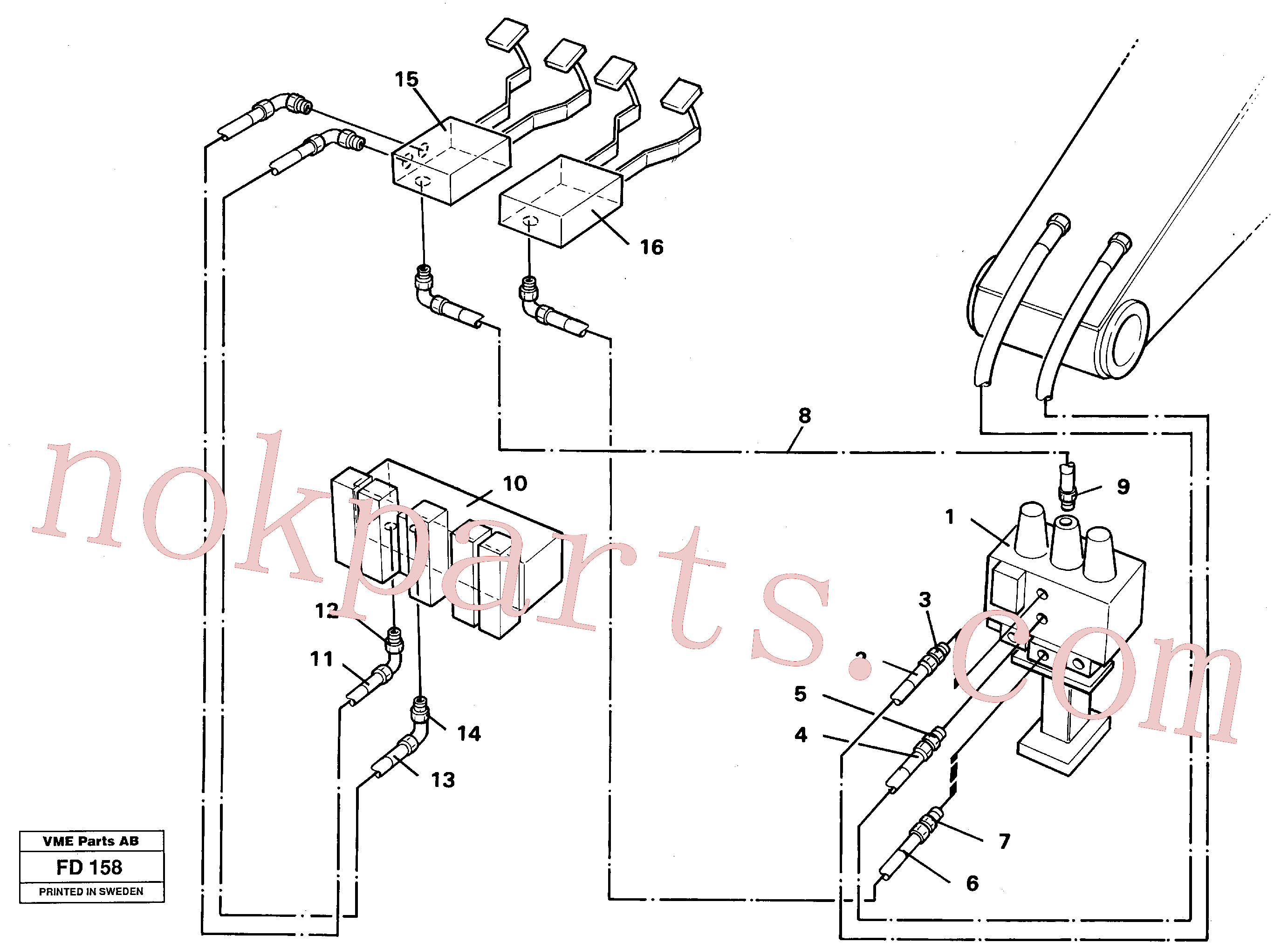 VOE14213152 for Volvo Slope/grab equipment, base machine(FD158 assembly)