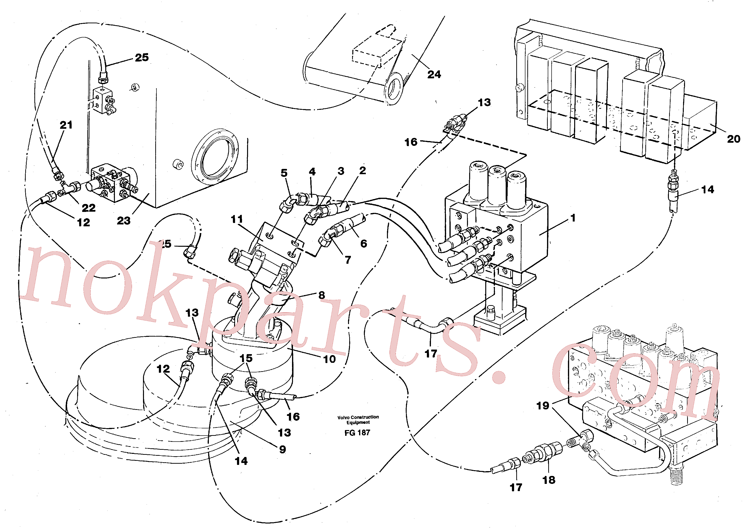 VOE14263247 for Volvo Boom swing system(FG187 assembly)