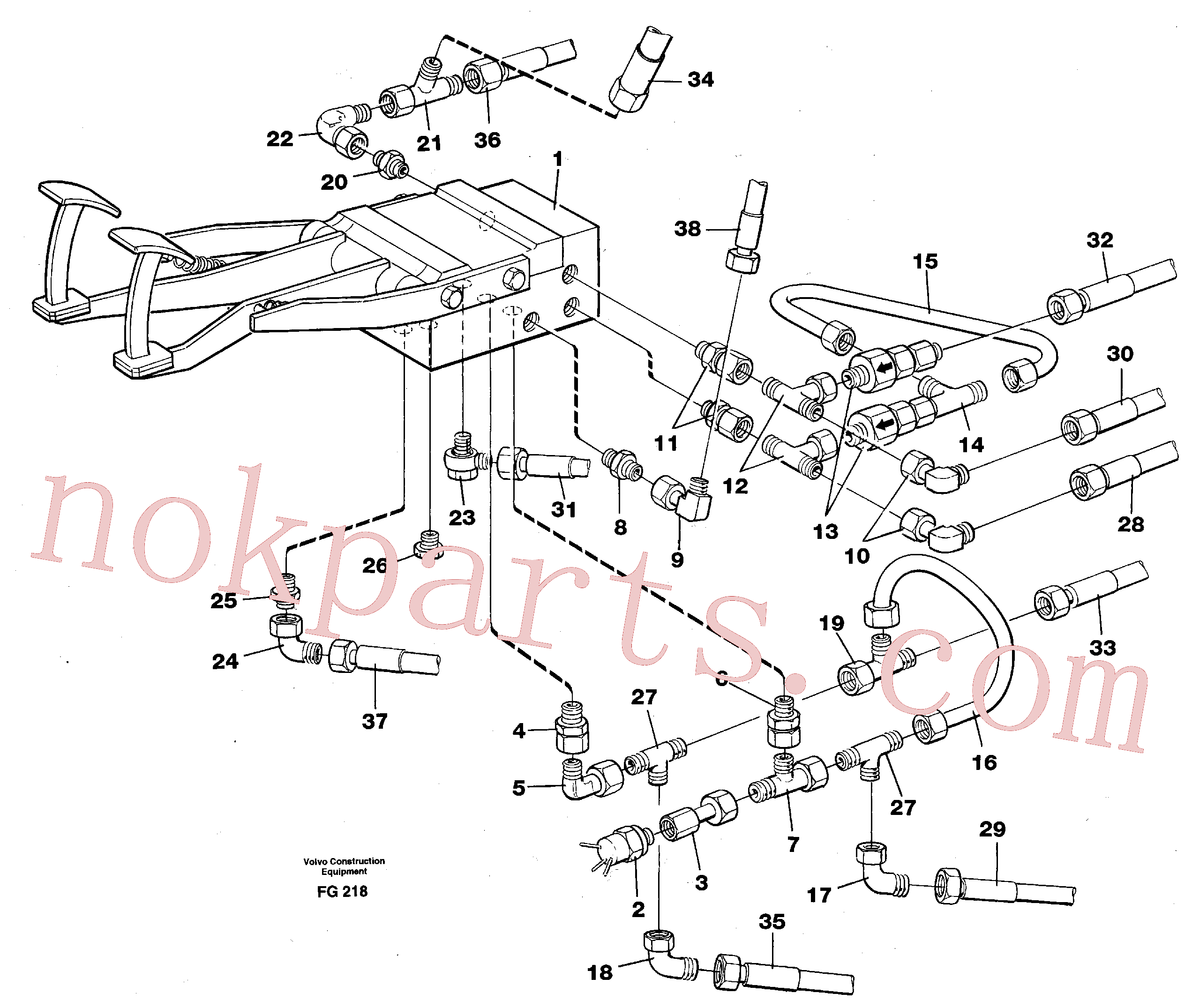 VOE14260245 for Volvo Pedal valve with connections(FG218 assembly)