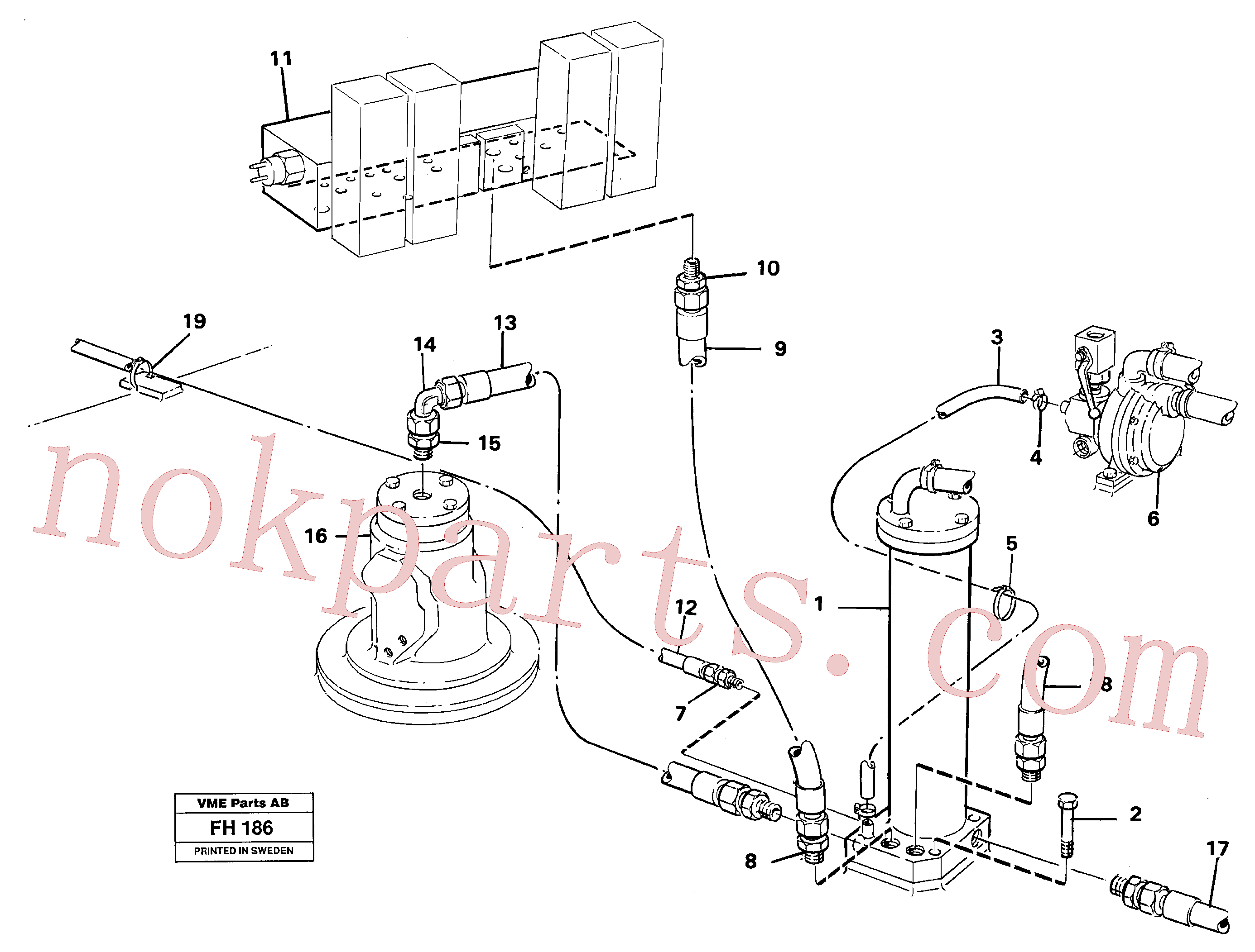 ZM2908909 for Volvo Leak oil filter, with connections(FH186 assembly)