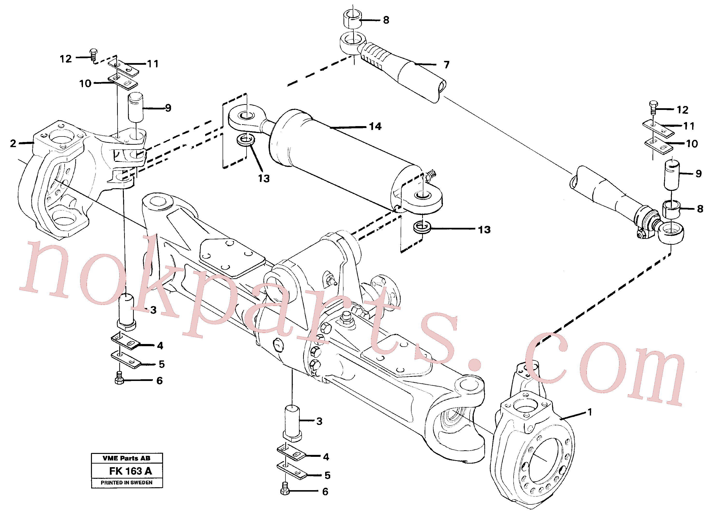 VOE14026212 for Volvo Link housing and parallel stay(FK163A assembly)