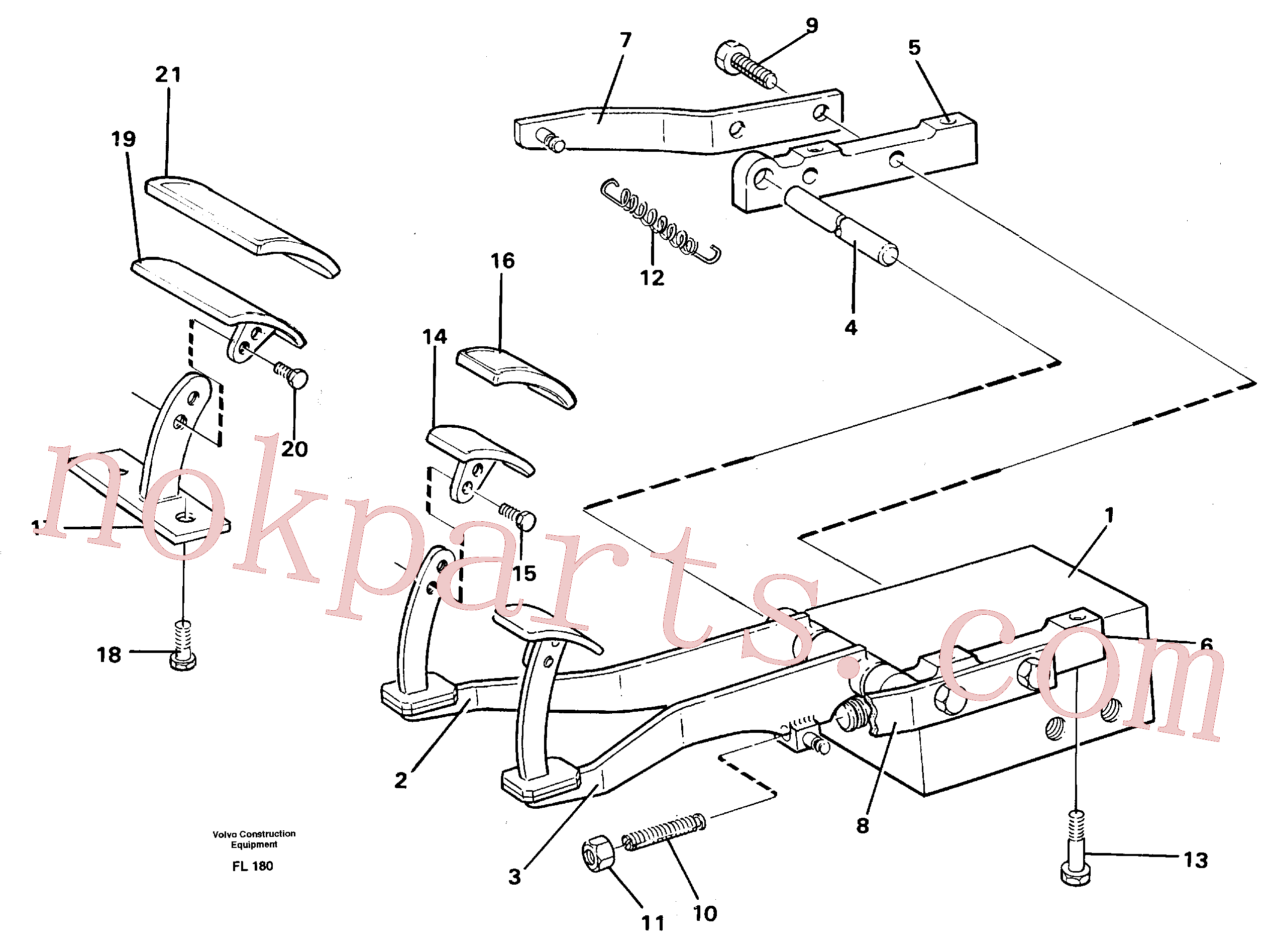 VOE14213032 for Volvo Pedal valve with foot rest(FL180 assembly)