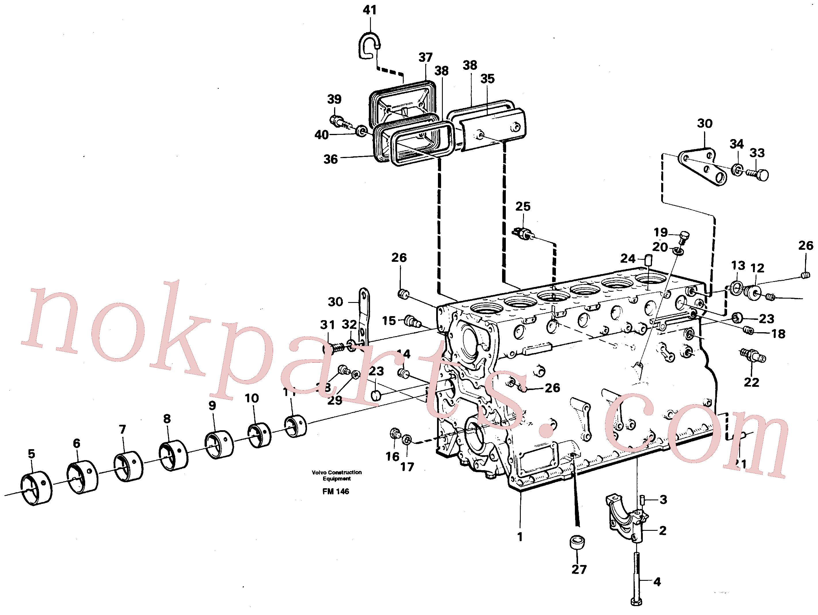 VOE191171 for Volvo Cylinder block(FM146 assembly)
