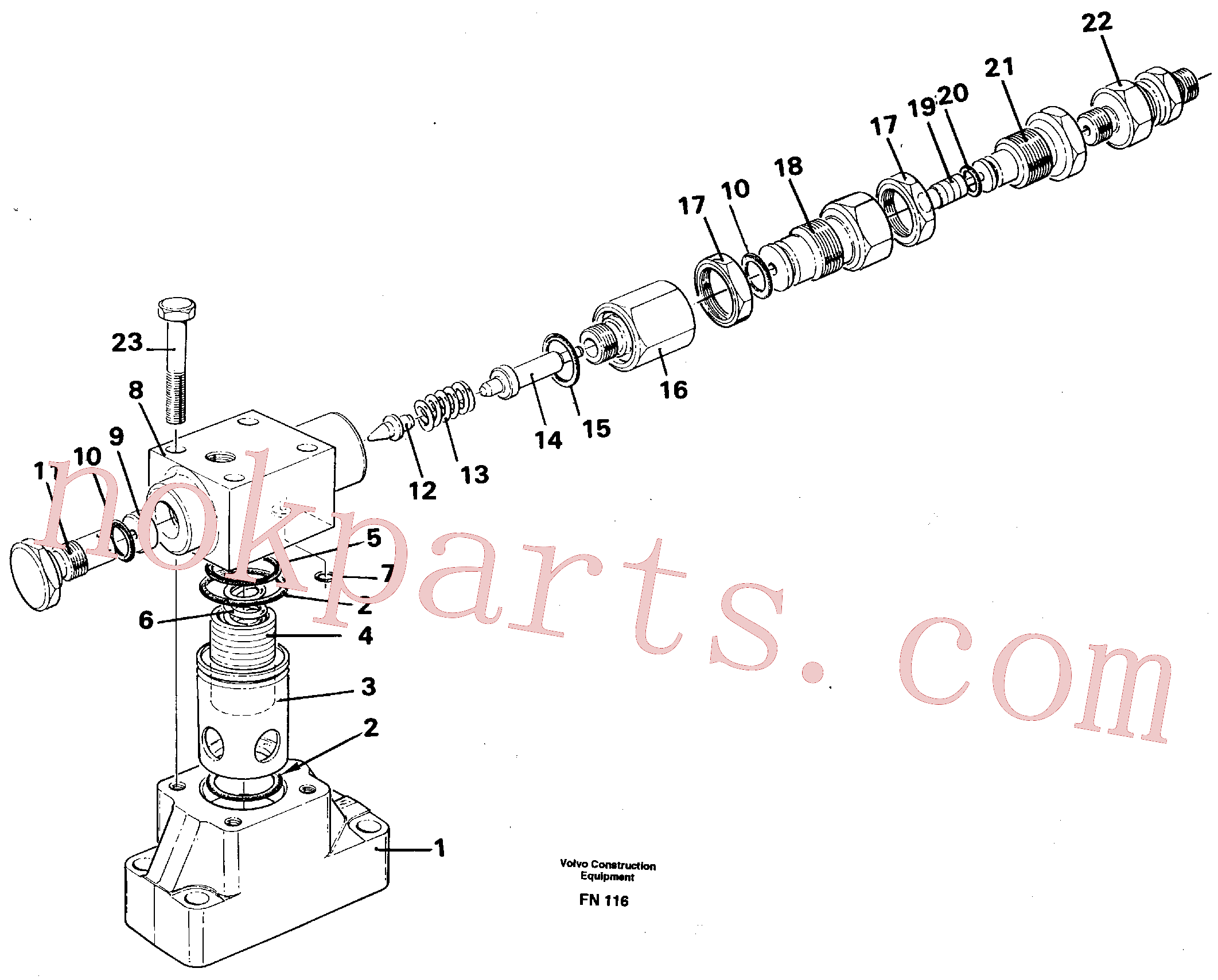 VOE925064 for Volvo Pressure limiting valve(FN116 assembly)