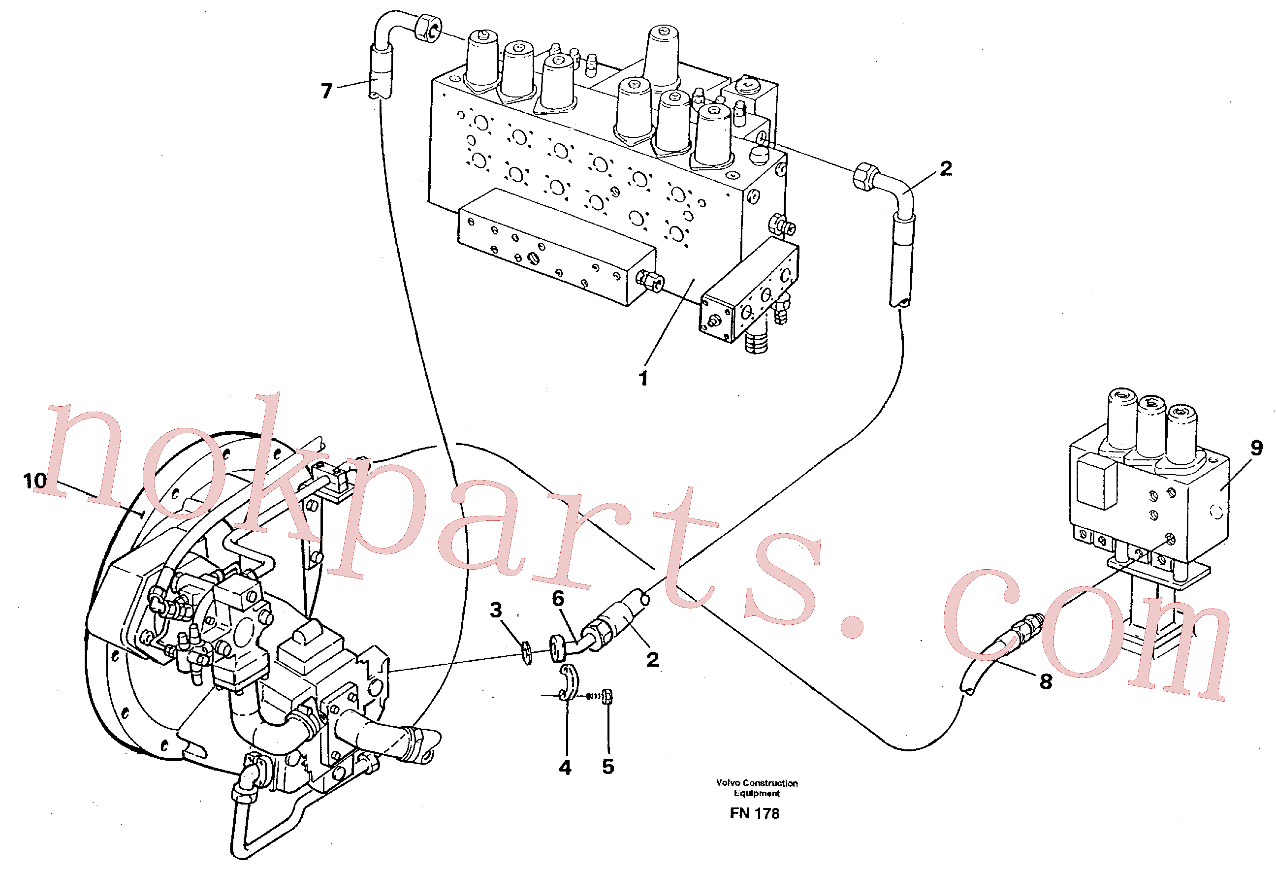 VOE935312 for Volvo Hydraulic system, feed line(FN178 assembly)