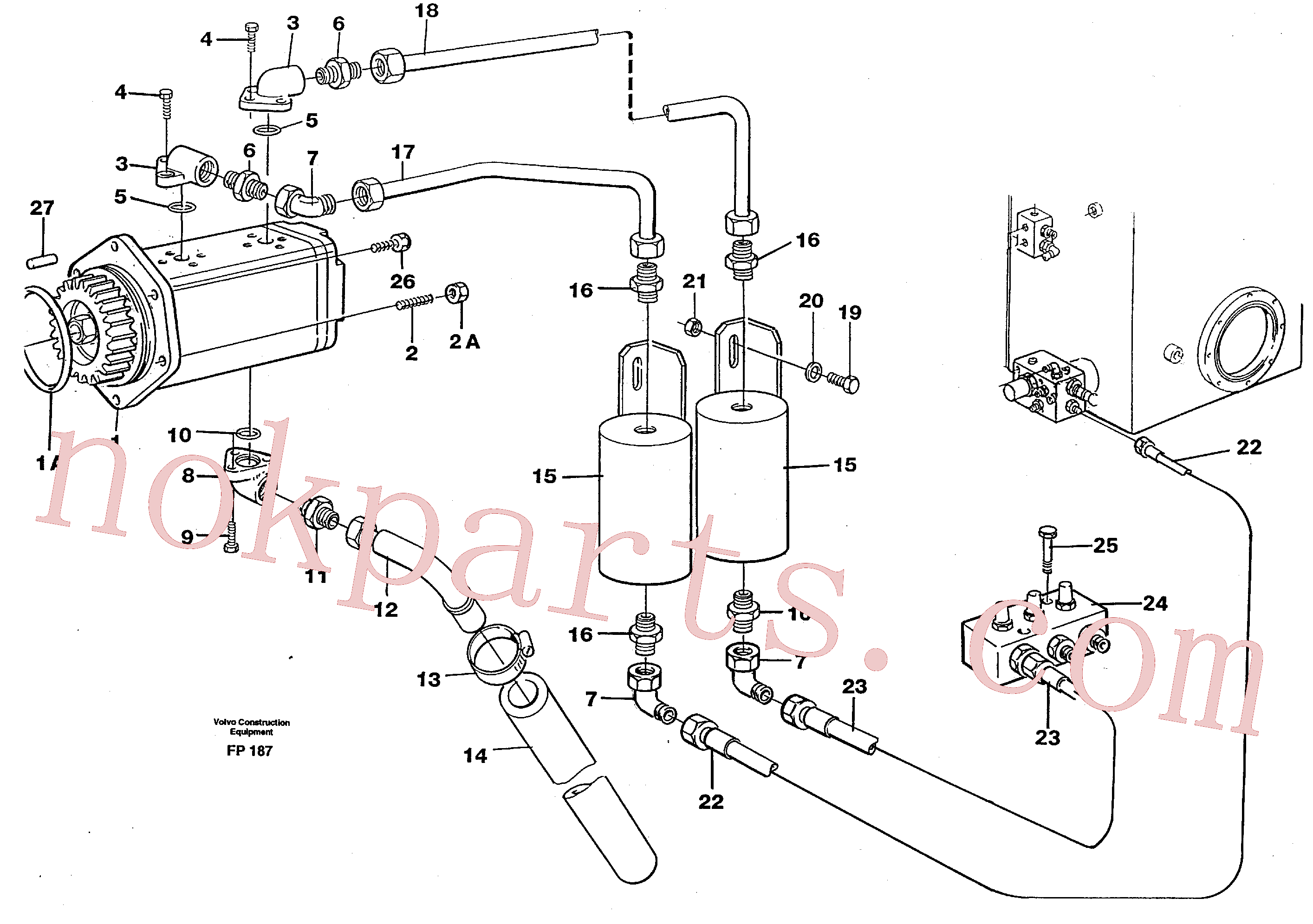 VOE14023251 for Volvo Servo pump(FP187 assembly)