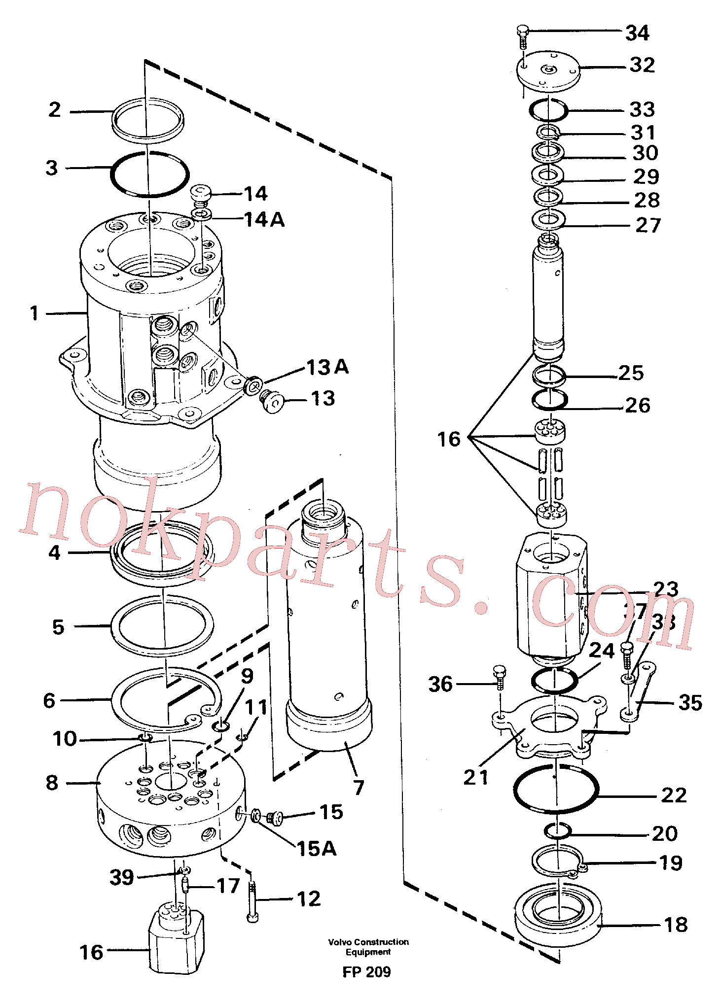 VOE14023251 for Volvo Turning joint(FP209 assembly)