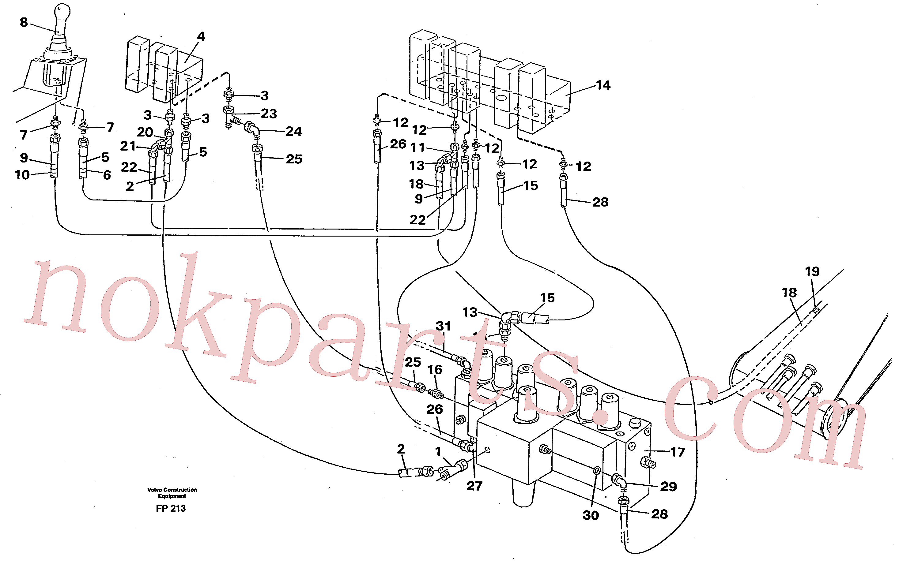 VOE14263247 for Volvo Servo hydraulics, boom(FP213 assembly)