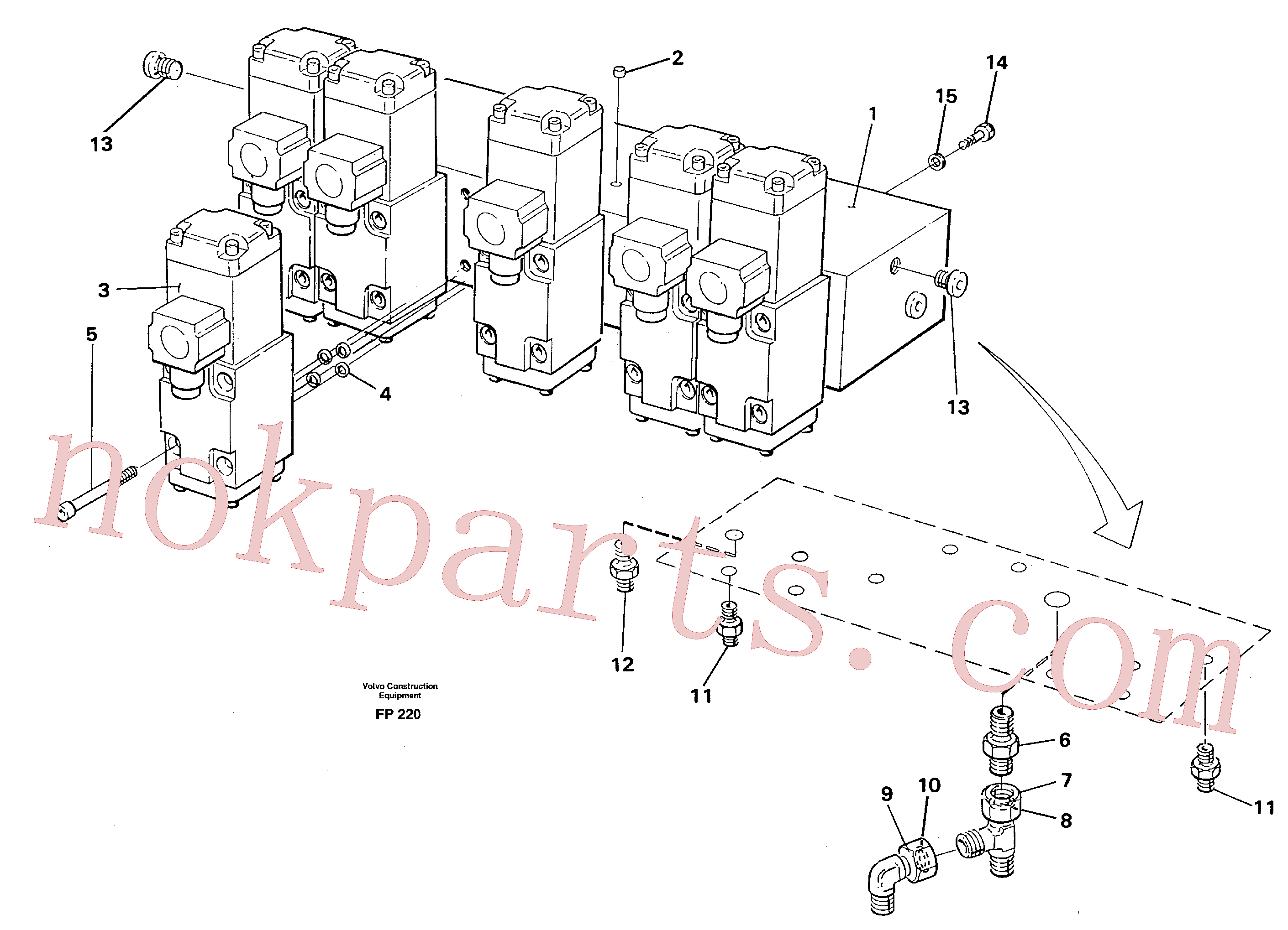 VOE14250884 for Volvo Slew valve block, crawlers(FP220 assembly)