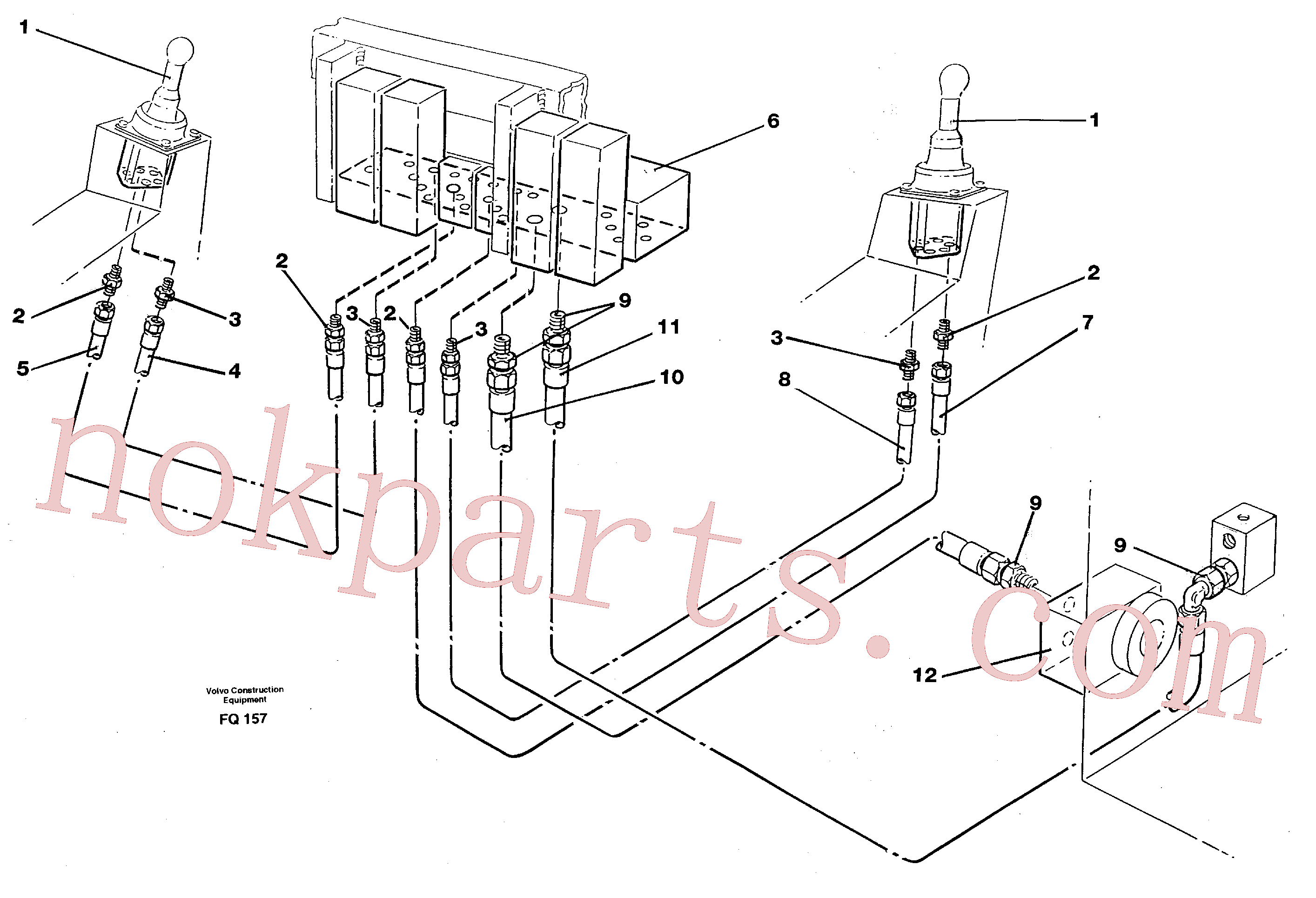 VOE14213121 for Volvo Servo hydraulics, tank return lines(FQ157 assembly)