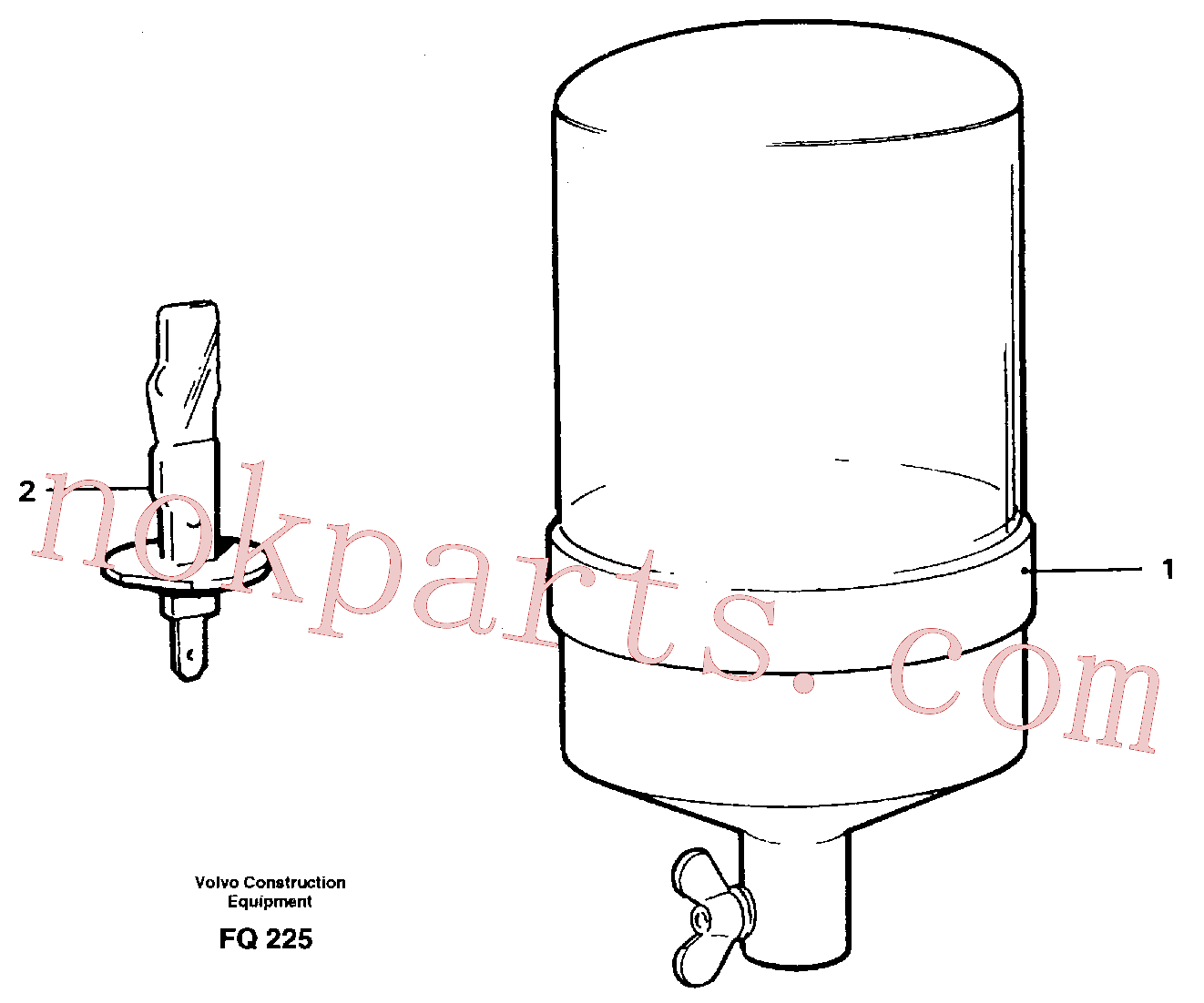 VOE11999125 for Volvo Rotating beacon(FQ225 assembly)