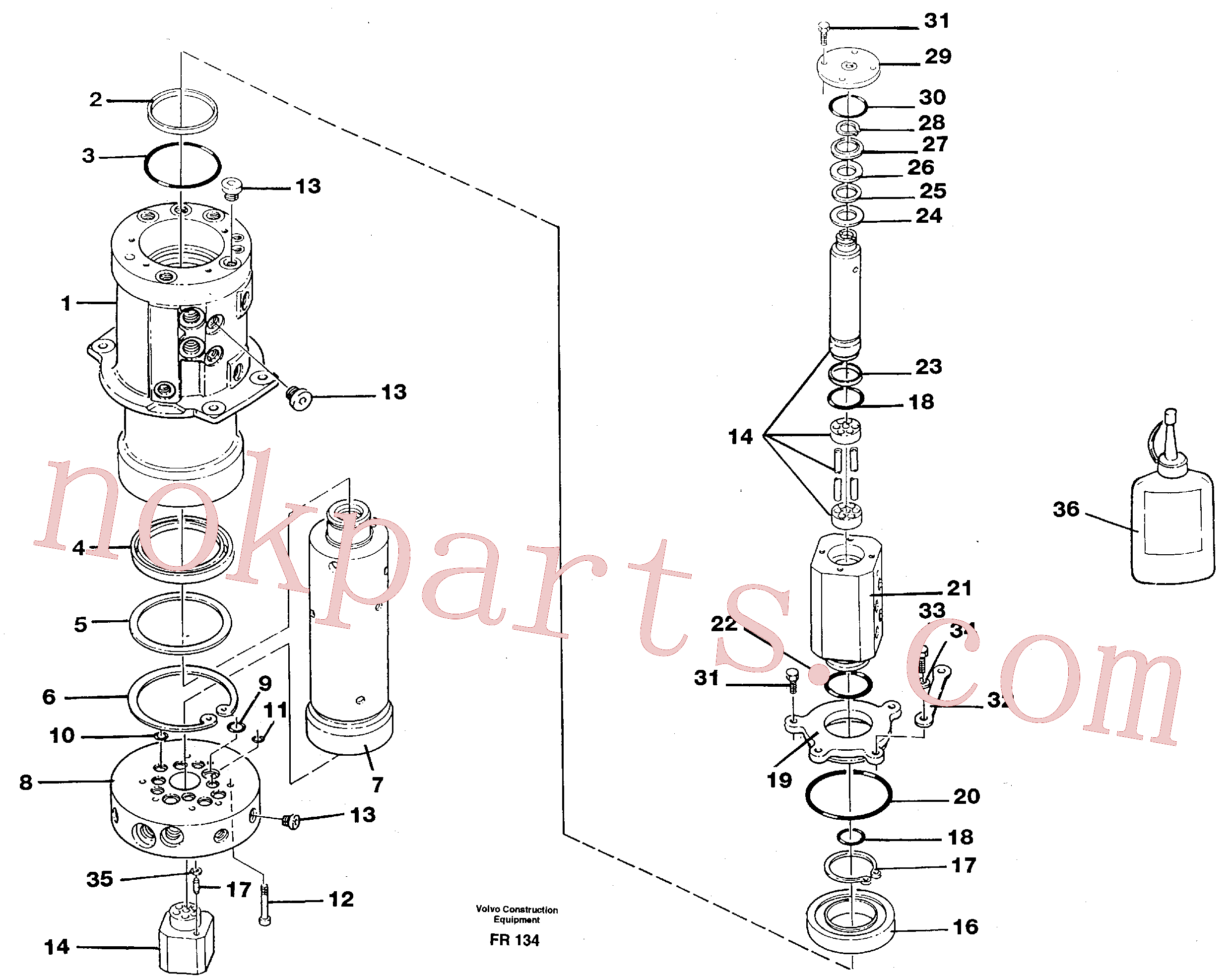VOE14023251 for Volvo Turning joint(FR134 assembly)