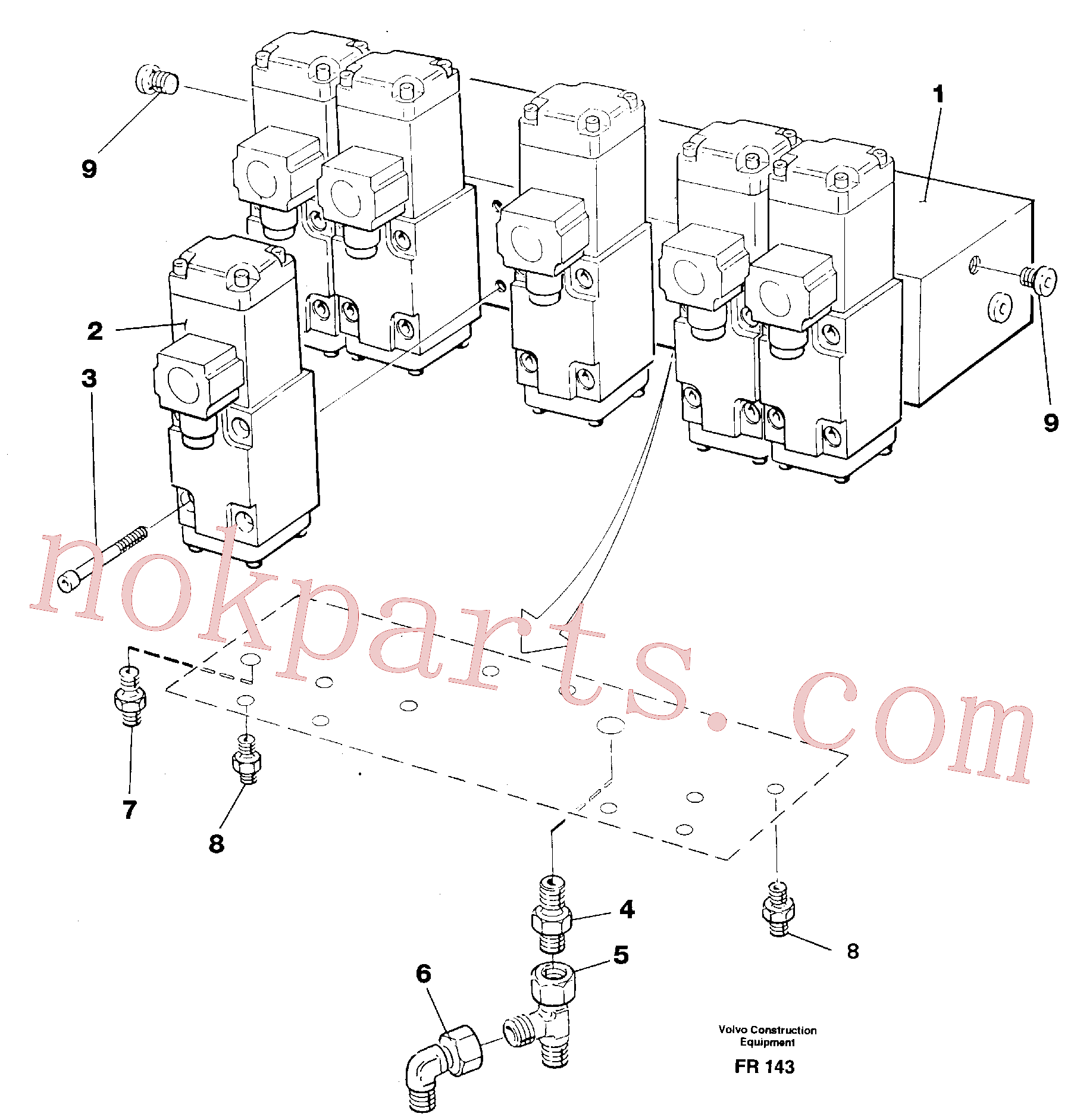 VOE14250884 for Volvo Control block, travel/ servo(FR143 assembly)