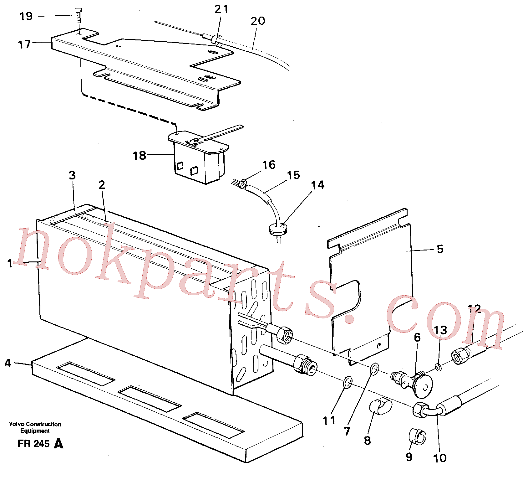 VOE14216276 for Volvo Evaporator with fitting parts Cooling agent R134 A(FR245A assembly)