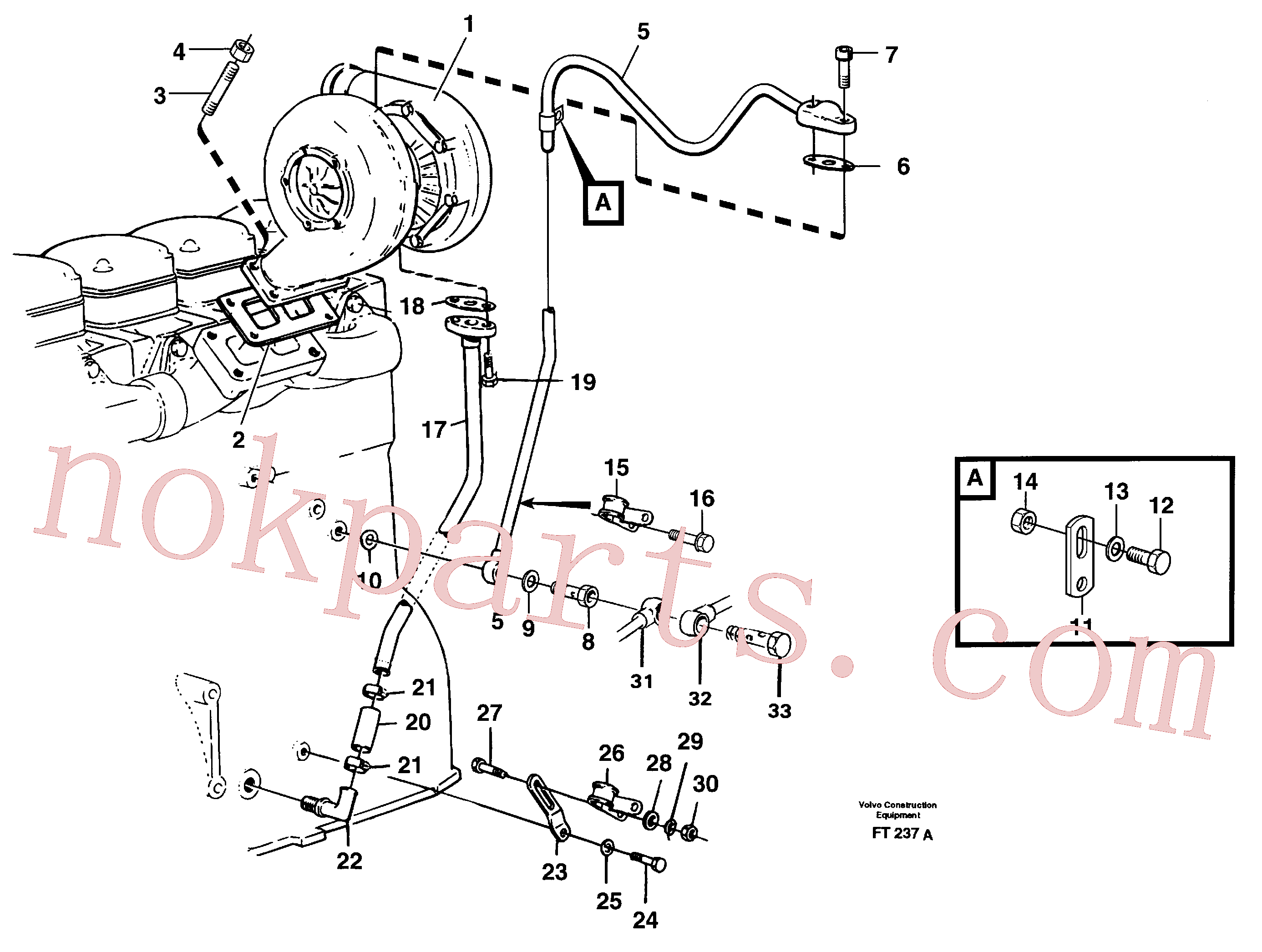 VOE946834 for Volvo Turbocharger with fitting parts(FT237A assembly)