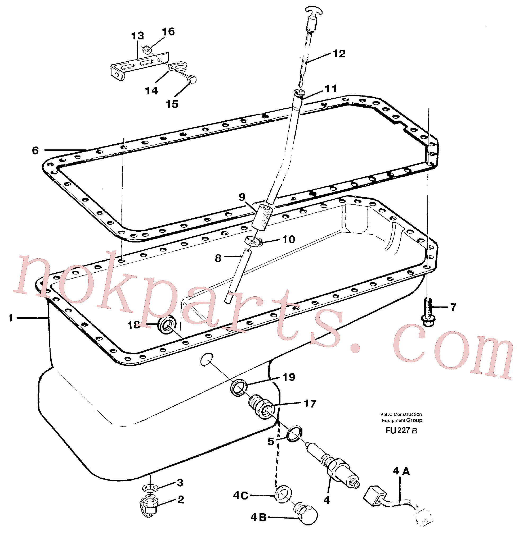 PJ5600007 for Volvo Oil sump(FU227B assembly)