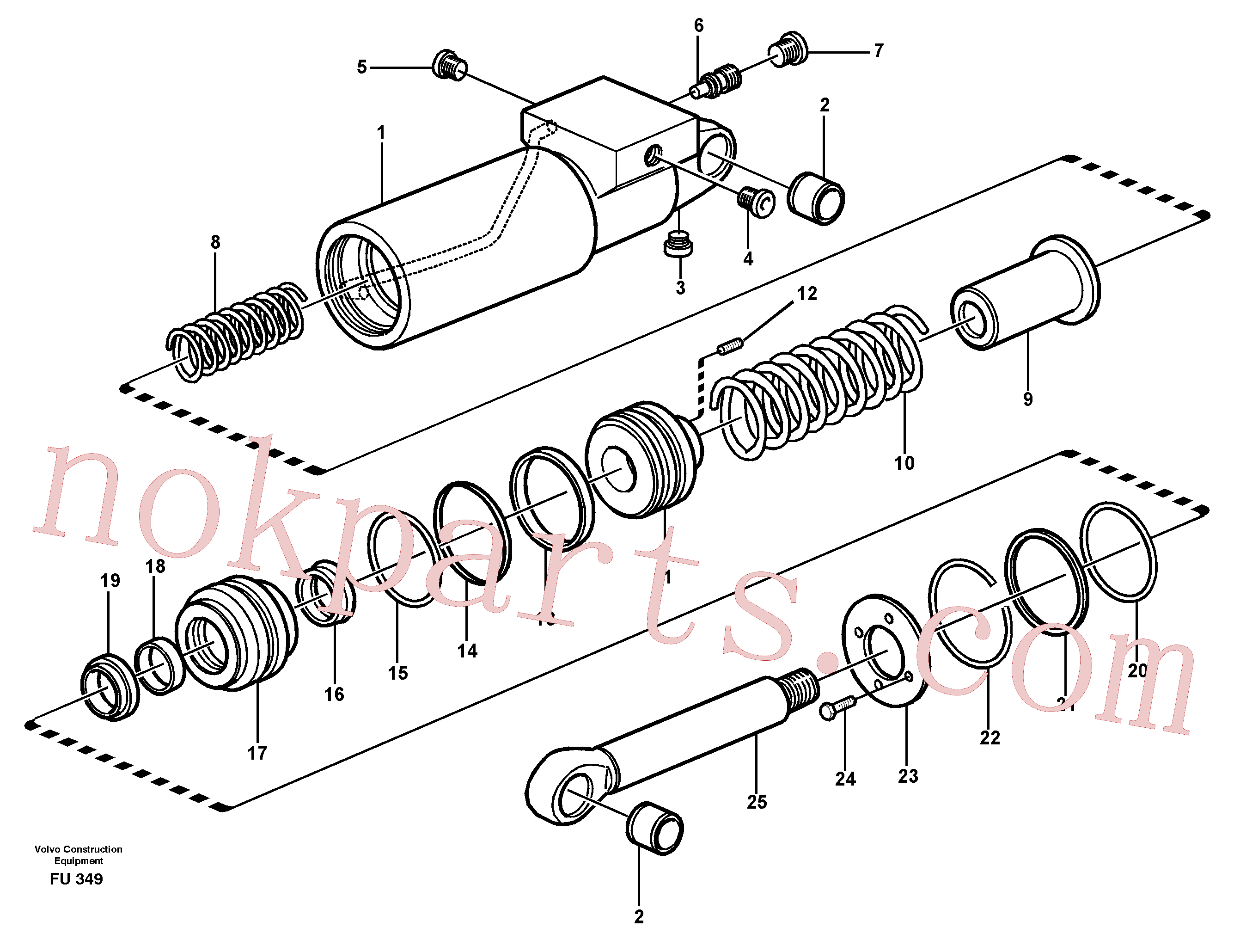 SA9512-02228 for Volvo Hydraulic cylinder(FU349 assembly)