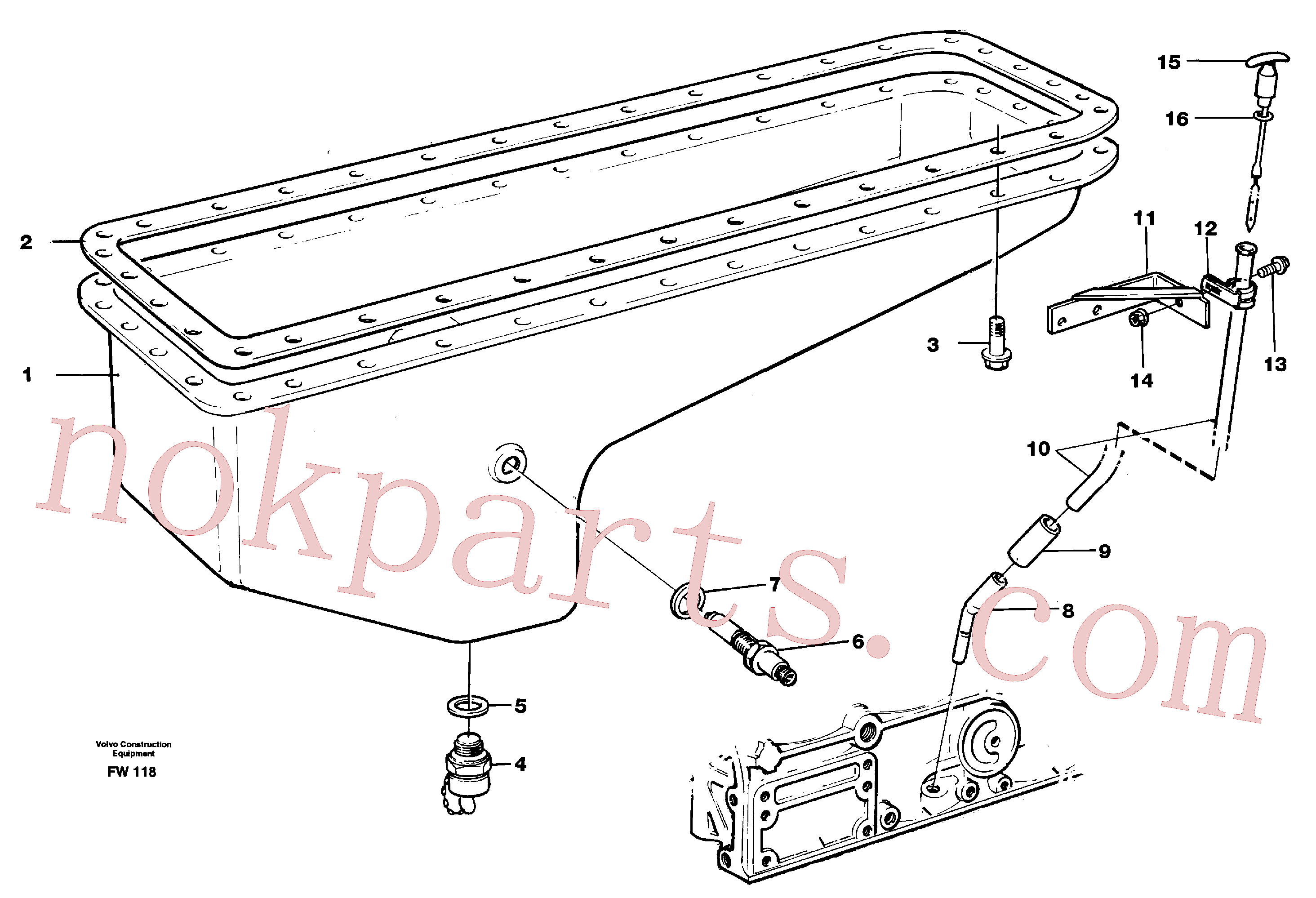 PJ5600007 for Volvo Oil sump(FW118 assembly)
