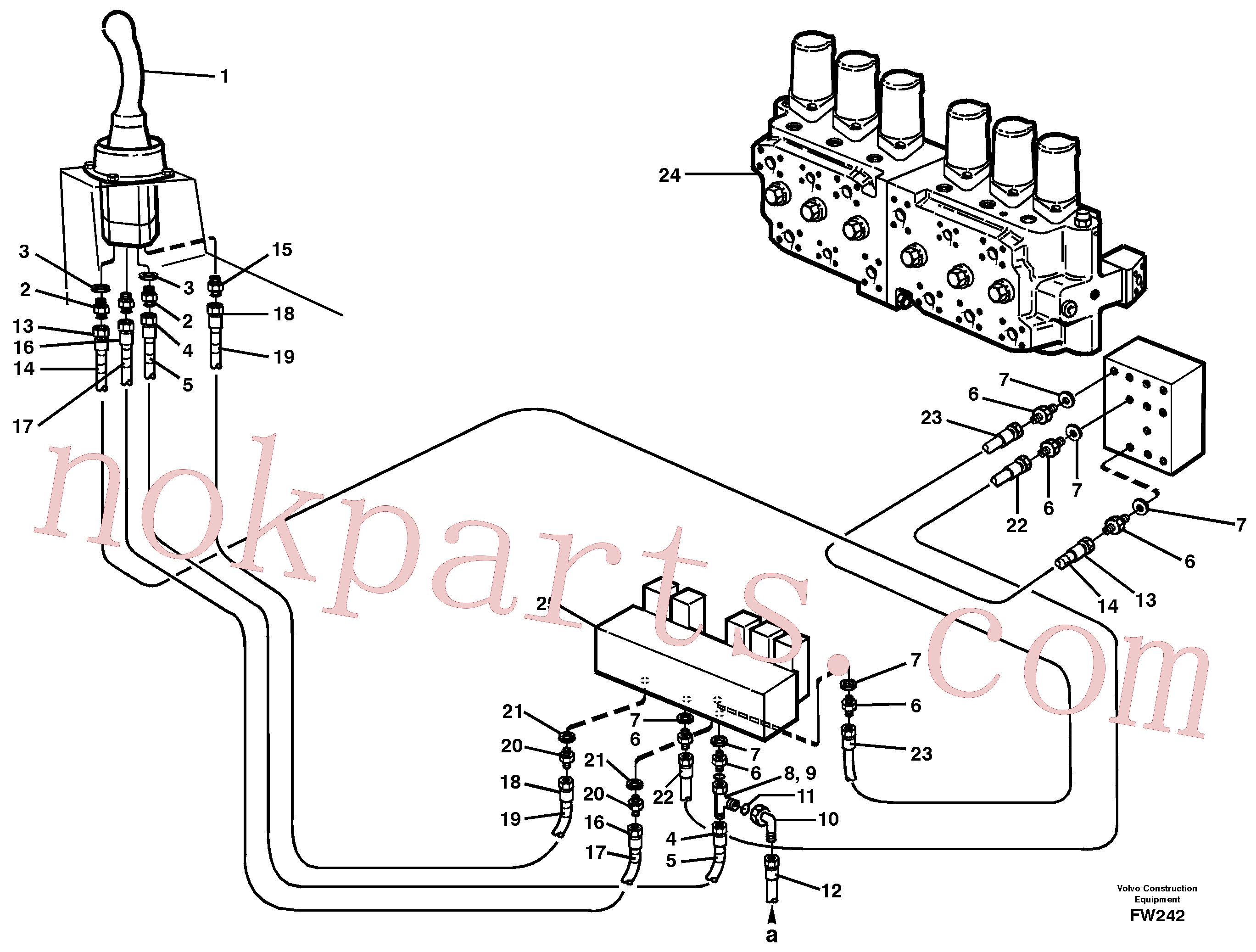 VOE14213121 for Volvo Servo hydraulics, boom(FW242 assembly)