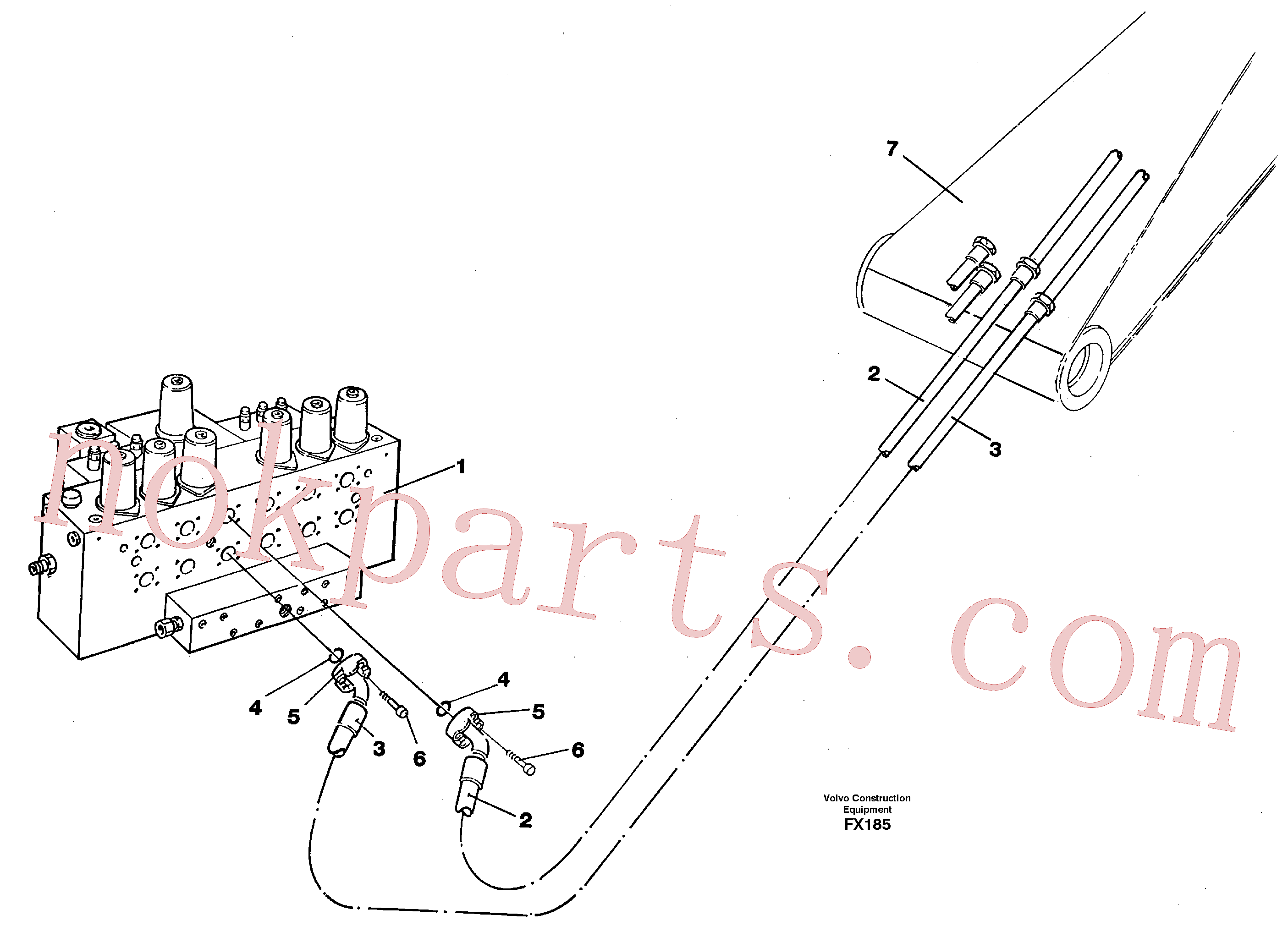 VOE14267471 for Volvo Hydraulic system, dipperarm(FX185 assembly)