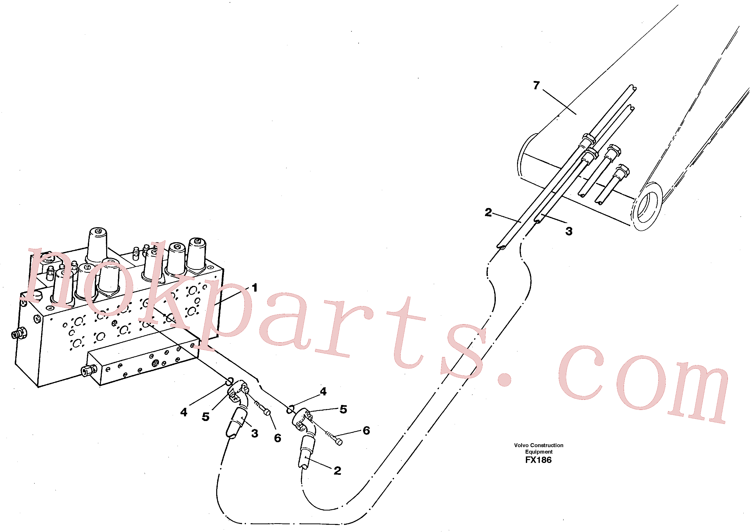 VOE14267471 for Volvo Hydraulic system, bucket(FX186 assembly)