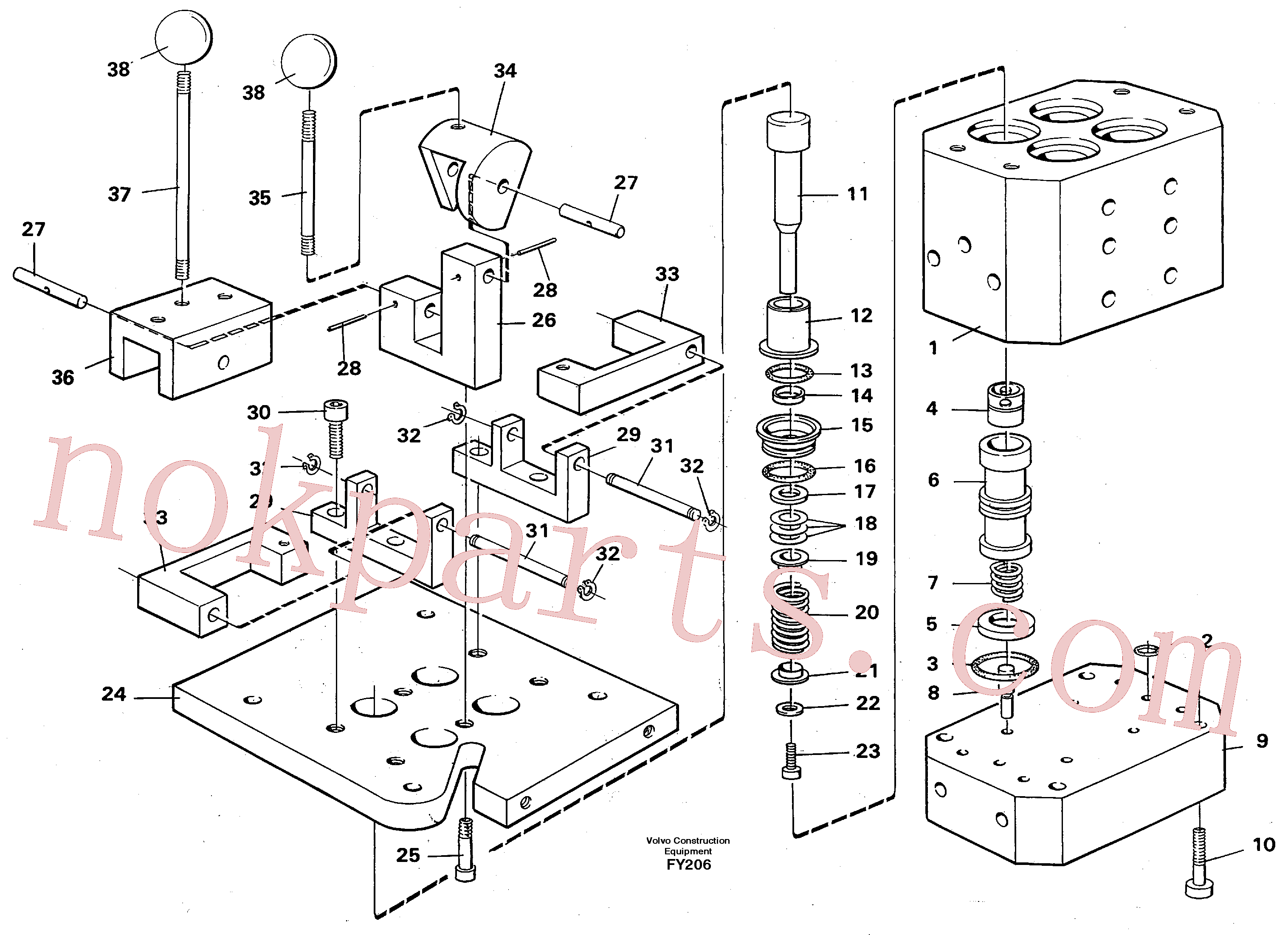 VOE14244422 for Volvo Control pressure valve(FY206 assembly)