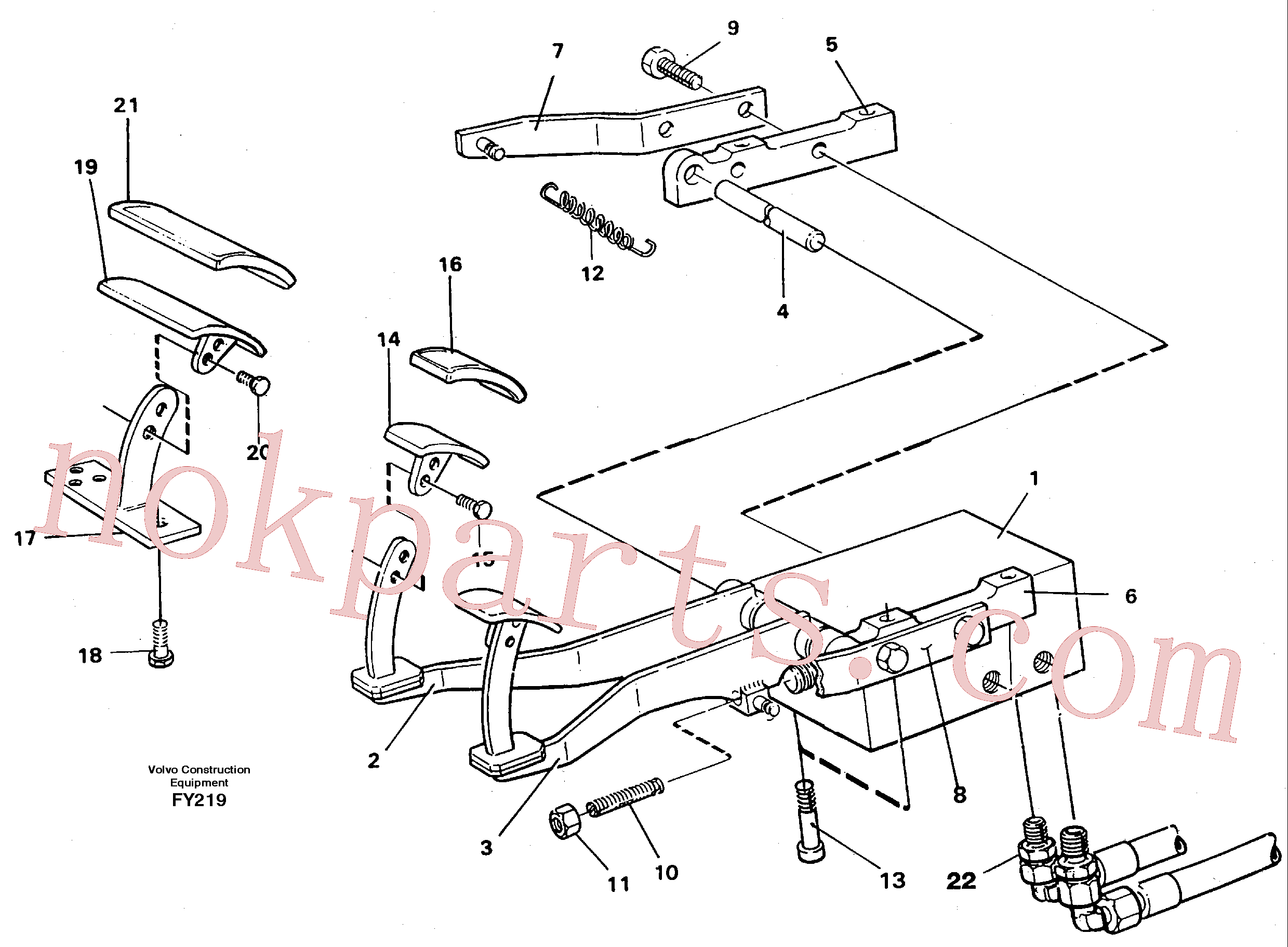 VOE14213032 for Volvo Pedal valve and foot rest(FY219 assembly)